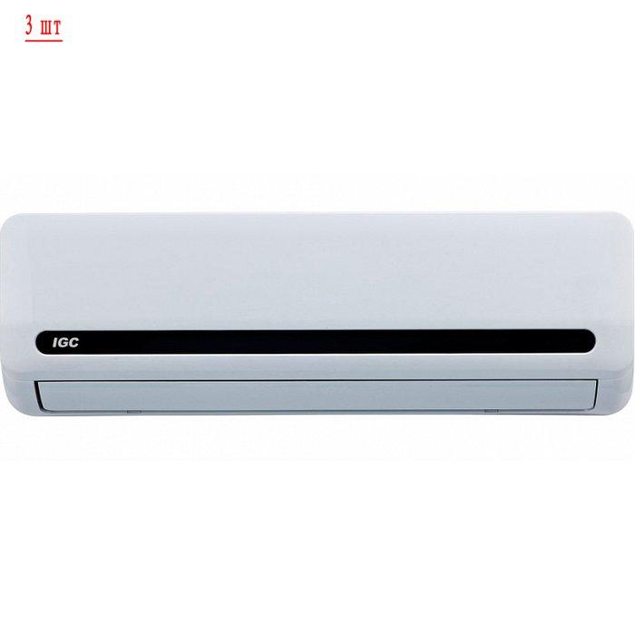 Мульти сплит-система на 3 комнаты IGC RAM3-24UNH/RAK-07NH*3шт3 комнаты<br>Мульти сплит-система IGC RAM3-24UNH/RAK-07NH*3шт &amp;ndash; это современный кондиционер (один внешний и два внутренних блока), который позволит вашему дому стать центром комфорта и уюта: он гарантирует равномерное распределение воздуха приятной температуры в зависимости от ваших потребностей или погоды на улице в пределах жилого сооружения (квартиры, индивидуального дома или отеля) &amp;mdash; работает в режиме обогрева и охлаждения.<br>Особенности и преимущества мульти сплит-систем IGC<br><br>Компрессор GMCC.<br>Класс энергоэффективности: &amp;laquo;А&amp;raquo;.<br>I&amp;nbsp;Класс электрозащиты.<br>Степень защиты:&amp;nbsp;IPX4.<br>Антикоррозийное покрытие теплообменника наружного блока.<br>Низкий уровень шума.<br>Компактные размеры.<br>Технологичный монтаж.<br>Функция горячего запуска.<br>Режим комфортного сна.<br>Суточный программируемый таймер.<br>Режим форсированного охлаждения.<br>Эргономичный пульт дистанционного управления.<br>Функция самодиагностики.<br>Функция автоматического перезапуска.<br>Моющийся воздушный фильтр.<br>Регулировка скорости вращения вентилятора.<br>Режим осушения.<br>Озонобезопасный хладагент.<br><br>Если ваша квартира, индивидуальный дом, загородное жилище или коттедж нуждаются в кондиционировании воздуха, в создании и поддержании благоприятного климатического режима внутри бытовых помещений, то идеальным решением станет установка мульти сплит-системы IGC серии Freematch. В обширный модельный ряд входят внешние и внутренние блоки различного типа, что позволит подключить к работе сразу несколько кондиционеров.<br>&amp;nbsp;<br><br>Страна: Великобритания<br>Охлаждение вн.блока,кВт: 2,0 x3<br>Производитель: Китай<br>Обогрев вн.блока, кВт: 2,3 x3<br>Компрессор: Инвертор<br>Площадь вн.блока, м?: 20 x3<br>Площадь, м?: 60<br>Режим работы: холод/тепло<br>Уровень шума, дБа: 57<br>Охлаждение,кВт: 6,0<br>Горизонтальная регулировка потока: Нет<br>Обогрев, кВт: 6,9<br>Габари