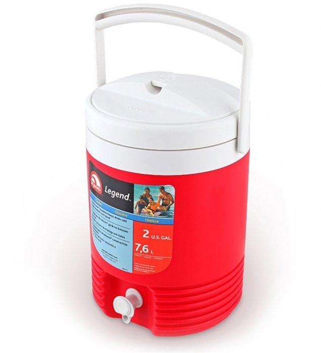 Термоэлектрический автохолодильник Igloo 2 GAL Legendдо 10 литров<br>Компактный и удобный в эксплуатации изометрический контейнер Igloo 2 GAL Legend используется для хранения горячих и холодных жидкостей. Благодаря устройству можно избежать снижения качества напитков из-за несоответствия температуре окружающей среды, которая может быть лишком высокой или низкой. Изделие имеет круглую форму, цвет крышки и ручки &amp;mdash; белый, конструкции &amp;mdash; красный.<br>Основные преимущества приобретения изотермического контейнера от торговой марки Igloo:<br><br>Современный привлекательный дизайн.<br>Удобные для транспортировки размеры.<br>Усиленная поворотная ручка, которую можно зафиксировать.<br>Наличие поддона для слива излишней жидкости.<br>Высокое европейское качество материалов изготовления.<br>Простота в уходе и использовании.<br>Разнообразные цветовые решения.<br>Идеален для любителей активного отдыха, рыбалки, охоты и путешествий.&amp;nbsp;&amp;nbsp;&amp;nbsp;&amp;nbsp;&amp;nbsp;&amp;nbsp;&amp;nbsp;&amp;nbsp;&amp;nbsp;&amp;nbsp;&amp;nbsp;<br><br>Изотермические пластиковые контейнеры Igloo &amp;mdash; это отличное решение для тех, кто любит дальние путешествия, пикники, рыбалку, часто осуществляет поездку на концерты, соревнования и другие мероприятия. Данные изделия из экологически чистых материалов будут поддерживать различные жидкости и напитки охлажденными или горячими &amp;mdash; в зависимости от функций и задач конкретной модели.<br><br>Страна: США<br>Объем, л: 7<br>Мощность, Вт: None<br>Питание, В: Нет<br>Max температура, C: None<br>Min температура, C: None<br>Функция подогрева: None<br>Дельта t, C: None<br>Кабель питания: Нет<br>Назначение: Изотермический контейнер<br>ГабаритыВШД,мм: 347х254х248<br>Вес, кг: 2<br>Гарантия: 6 месяцев