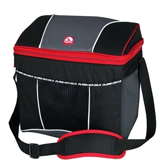 Сумка-термос Igloo HLC 12 redСумки-холодильники<br>Пластиковый контейнер на 18 литров, которым укомплектована изотермическая сумка HLC 12 red от американского бренда Igloo придаст жесткости и поможет сберечь хрупкие продукты. Изделие имеет удобную и компактную форму, длинный ремень оснащен специальной смягчающей вставкой для удобства переноса на плече. При использовании сумки без контейнера, она не теряет формы благодаря съемным ребрам жесткости.<br>Основные преимущества приобретения изотермической сумки от торговой марки Igloo:<br><br>Современный привлекательный дизайн.<br>Высокое европейское качество материалов изготовления.<br>Изготовлено из прочного материала Ripstop  .<br>Молнии и внутренний карман сделаны из материала, устойчивого к воде.<br>Абсолютно герметично.<br>Просто очищается.<br>Съемные вставки обеспечивает гибкость ее использования с пластиковым контейнером или без него.<br>8мм Polatherm   изоляция сохраняет продукты питания и напитки теплыми или холодными.<br>Очень длинный, регулируемый плечевой ремень.<br>Внутренний сетчатый карман для мелочи.<br>Идеальна для активного отдыха и путешествий.<br><br>Семейство изотермических сумок НLC от популярного американского бренда Igloo разработана для удобства транспортировки продуктов, которым необходимо сохранить оптимальную температуру. Так, отправляясь на пикник или на пляж в летний зной, вы сможете взять с собой прохладных напитков, которые не потеряют свою температуру даже под прямыми солнечными лучами. Все модели изготовлены из прочного материала, который                устойчив к загрязнению и износу. Для удобства перемещения все изделия семейства оснащены ручками.<br><br>Страна: США<br>Объем, л: 9,0<br>Мощность, Вт: None<br>Питание, В: Нет<br>Темп. max, С: None<br>Темп. min, С: None<br>Габариты ВxШxД, мм: 307,9x222,2x330<br>Вес, кг: 1<br>Гарантия: 1 год<br>Кабель питания: Нет<br>Назначение: Сумкатермос