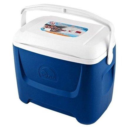 Изотермический контейнер Igloo Island Breeze 28 blue21-30 литров<br>С наступлением летнего периода мы начинаем выбираться за город, устраивать пикники и ездить на дачи. Незаменимым помощником в таких поездках станет для вас изотермическая пластиковая сумка - контейнер Igloo Island Breeze 28, позволяющая сохранить продукты охлажденными до 16 часов, благодаря надежной пенной изоляции стенок и крышки. Удобная поворотная ручка с фиксацией. Модель выполнена в синем цвете, с белой крышкой. Контейнер Igloo Island Breeze 28 поможет вам сделать загородный отдых комфортным.<br>Основные преимущества приобретения изотермического контейнера от торговой марки Igloo:<br><br>Современный привлекательный дизайн.<br>Удобные для транспортировки размеры.<br>Усиленная поворотная ручка, которую можно зафиксировать.<br>UltraTherm   изоляции корпуса контейнера и его крышки.<br>Высокое европейское качество материалов изготовления.<br>Простота в уходе и использовании.<br>Разнообразные цветовые решения.<br>Идеален для любителей активного отдыха, рыбалки, охоты и путешествий.<br><br>Известный американский производитель   компания Igloo разработал серию пластиковых контейнеров, которые предназначены для хранения охлажденных продуктов или напитков. Все модели серии изготовлены из высококачественного материала,  благодаря надежному слою теплоизоляции,  способны сохранить необходимую температуру продуктов на протяжении длительного срока. Такое решение незаменимо на даче, на пикнике или на пляже. Для еще большего удобства некоторые модели серии оснащены специальной тележкой. <br><br>Страна: США<br>Объем, л: 26,0<br>Мощность, Вт: Нет<br>Питание, В: Нет<br>Max температура, C: Нет<br>Min температура, C: Нет<br>Функция подогрева: Нет<br>Дельта t, C: Нет<br>Кабель питания: Нет<br>Назначение: Изотермический контейнер<br>ГабаритыВШД,мм: 460x400x280<br>Вес, кг: 3<br>Гарантия: 1 год