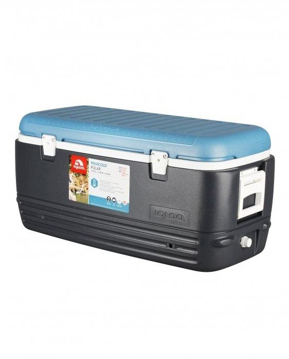 Термоэлектрический автохолодильник Igloo MaxCold Polar 120свыше 40 литров<br>Вместительный изотермический контейнер Igloo (Иглу) MaxCold Polar 120 незаменим при проведении различных мероприятий на открытом отдыхе, а также отлично подходит для небольших путешествий. Большой объем контейнера позволяет размещать в нем продукты для всех членов семьи и друзей, а также охлаждать бутылки с водой. В верхней части имеется люк для быстрого доступа к содержимому.<br>Основные преимущества приобретения изотермического контейнера от торговой марки Igloo:<br><br>Современный привлекательный дизайн.<br>Удобные для транспортировки размеры.<br>Удобные ручки, упрощающие перенос контейнеров.<br>Есть модели с защелками на крышках и без.<br>Резьбовая сливная пробка для отвода конденсата.<br>Двойная пенная UltraTherm &amp;reg; изоляция корпуса и крышки позволяет поддерживать хранить лед &amp;nbsp;до 5 дней при температуре окружающей среды не более + 30&amp;deg; .<br>Разнообразные цветовые решения.<br>Идеален для любителей активного отдыха, рыбалки, охоты и путешествий.<br><br>MAXCOLD &amp;ndash; это серия современных изотермических контейнеров, которые предназначены для хранения холодных продуктов. Материалы изготовления и габаритные размеры позволяют брать модели семейства на рыболовную лодку, на яхту или просто на какие-либо мероприятия на открытом воздухе. Для максимально длительного использование производитель рекомендует наполнить контейнер льдом, который не растает там около 5 дней благодаря качественному слою надежной изоляции.&amp;nbsp;<br><br>Страна: США<br>Объем, л: 113,0<br>Мощность, Вт: Нет<br>Питание, В: Нет<br>Max температура, C: Нет<br>Min температура, C: Нет<br>Функция подогрева: Нет<br>Дельта t, C: Нет<br>Кабель питания: Нет<br>Назначение: Изотермический контейнер<br>ГабаритыВШД,мм: 400x400x900<br>Вес, кг: 5<br>Гарантия: 1 год