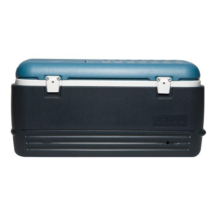 Термоэлектрический автохолодильник Igloo MaxCold Quick&amp;Cool 100 темно-синийсвыше 40 литров<br>Igloo (Иглу) MaxCold Quick Cool 100 темно-синий &amp;ndash; это большой изотермический контейнер, рассчитанный на хранение продуктов для пяти человек. Наверху присутствует удобный люк, позволяющий получать доступ к содержимому контейнера без поднятия крышки. Также производителем предусмотрена простая и удобная система в нижней части контейнера для слива конденсата.<br>Основные преимущества приобретения изотермического контейнера от торговой марки Igloo:<br><br>Современный привлекательный дизайн.<br>Удобные для транспортировки размеры.<br>Удобные ручки, упрощающие перенос контейнеров.<br>Есть модели с защелками на крышках и без.<br>Резьбовая сливная пробка для отвода конденсата.<br>Двойная пенная UltraTherm &amp;reg; изоляция корпуса и крышки позволяет поддерживать хранить лед &amp;nbsp;до 5 дней при температуре окружающей среды не более + 30&amp;deg; .<br>Разнообразные цветовые решения.<br>Идеален для любителей активного отдыха, рыбалки, охоты и путешествий.<br><br>MAXCOLD &amp;ndash; это серия современных изотермических контейнеров, которые предназначены для хранения холодных продуктов. Материалы изготовления и габаритные размеры позволяют брать модели семейства на рыболовную лодку, на яхту или просто на какие-либо мероприятия на открытом воздухе. Для максимально длительного использование производитель рекомендует наполнить контейнер льдом, который не растает там около 5 дней благодаря качественному слою надежной изоляции.&amp;nbsp;<br><br>Страна: США<br>Объем, л: 95,0<br>Мощность, Вт: Нет<br>Питание, В: Нет<br>Max температура, C: Нет<br>Min температура, C: Нет<br>Функция подогрева: Нет<br>Дельта t, C: Нет<br>Кабель питания: Нет<br>Назначение: Изотермический контейнер<br>ГабаритыВШД,мм: 430x440x900<br>Вес, кг: 9<br>Гарантия: 1 год