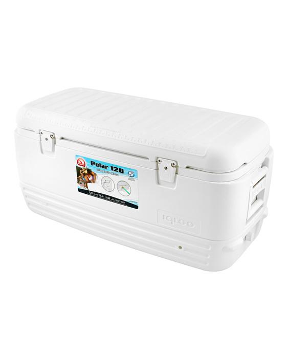 Изотермический контейнер Igloo Polar 120свыше 40 литров<br>Создатели термоконтейнера Igloo Polar 120 продумали все до мелочей, чтобы обеспечить комфорт для вас. Усовершенствованный дизайн, удобные ручки для транспортировки повышенной прочности, надежные фиксаторы крышки. Контейнер термоизолирован по самой современной технологии UltraTherm, надолго сохраняя температуру внутри контейнера. Вместимость модели 114 л. При использовании дополнительно аккумулятора холода сохранить температуру внутри можно до 120 часов.<br>Основные преимущества приобретения изотермического контейнера от торговой марки Igloo:<br><br>Современный привлекательный дизайн.<br>Удобные для транспортировки размеры.<br>Легкость и прочность конструкции.<br>Оснащен двойными защелками для безопасного закрытия крышки.<br>Резьбовая сливная пробка для отвода конденсата.<br>Люк в верхней крышке упрощает доступ к содержимому контейнера.<br>Двойная UltraTherm &amp;reg; пенная изоляция корпуса и крышки позволяет хранить лед &amp;nbsp;7 дней при 30&amp;deg; С<br>Невероятно просты в уходе и очистке.<br>Идеальны для любителей активного отдыха, рыбалки, охоты и путешествий.<br><br>QUICK   COOL &amp;ndash; это новая серия изотермических контейнеров от торговой марки Igloo, которые разработаны для использования совместно со льдом или аккумуляторами холода. Все контейнеры серии достаточно вместительны, откидные крышки конструкций оснащены надёжными застёжками. Кроме того, на крышке предусмотрен небольшой люк, который значительно упрощает доступ к внутреннему содержимому контейнера.&amp;nbsp;<br><br>Страна: США<br>Объем, л: 114,0<br>Мощность, Вт: Нет<br>Питание, В: Нет<br>Max температура, C: Нет<br>Min температура, C: Нет<br>Функция подогрева: Нет<br>Дельта t, C: Нет<br>Кабель питания: Нет<br>Назначение: Изотермический контейнер<br>ГабаритыВШД,мм: 450x440x980<br>Вес, кг: 10<br>Гарантия: 1 год