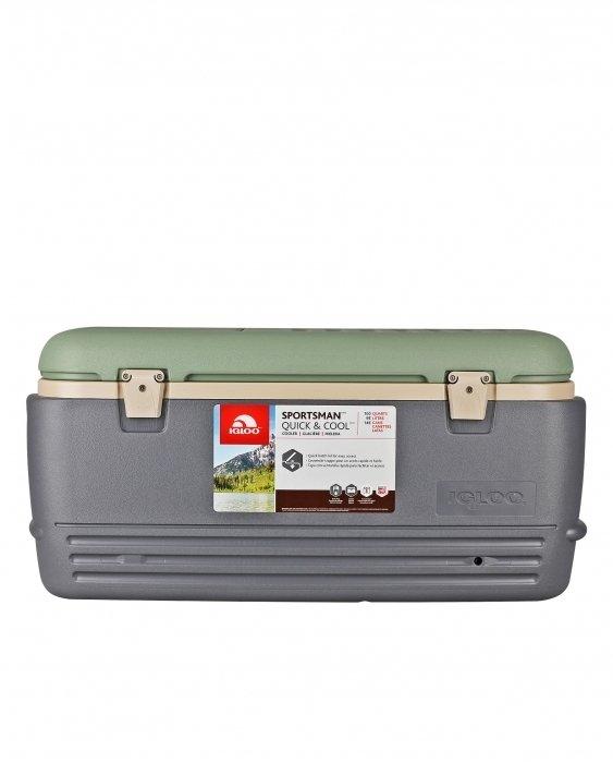 Изотермический контейнер Igloo Sportsman 100свыше 40 литров<br>Прохладные напитки на летнем пикнике? Горячий кофе в зимнем походе? Это легко и просто с термоконтейнером Igloo Sportsman 100. Вместительность до 96 л. Прекрасно держит температуру благодаря новейшей системе термоизоляции. При использовании с аккумулятором температуру способен сохранить температуру внутри до 5 дней. Удобное отверстие в крышке для быстрого доступа к содержимому без лишней потери температуры контейнера. Корпус выполнен в современном дизайне необычного изумрудного цвета.<br>Основные преимущества приобретения изотермического контейнера от торговой марки Igloo:<br><br>Современный привлекательный дизайн.<br>Удобные для транспортировки размеры.<br>Усиленная поворотная ручка с фиксацией.<br>Двойная UltraTherm   пенная изоляция корпуса и крышки<br>Литые ручки по бокам корпуса для удобства позрузки и разгрузки из багажника автомобиля.<br>Невероятно просты в уходе и очистке.<br>Идеальны для любителей активного отдыха, рыбалки, охоты и путешествий.<br><br>Серия изотермических контейнеров SPORTSMAN от известного американского бренда Igloo разработана специально для любителей спорта, активного отдыха или рыбалки. Все контейнеры имеют компактные размеры, что удобно для транспортировки. Все модели оснащены качественной теплоизоляцией, что позволяет сохранить необходимую температуру продуктов более длительный срок. Возможно использование аккумулятора холода (приобретается отдельно).  Стоит отметить, что производитель использует в производстве только качественные материалы, одобренные для эксплуатации с пищевыми продуктами. <br><br>Страна: США<br>Объем, л: 98,0<br>Мощность, Вт: Нет<br>Питание, В: Нет<br>Max температура, C: Нет<br>Min температура, C: Нет<br>Функция подогрева: Нет<br>Дельта t, C: Нет<br>Кабель питания: Нет<br>Назначение: Изотермический контейнер<br>ГабаритыВШД,мм: 420x430x900<br>Вес, кг: 9<br>Гарантия: 1 год