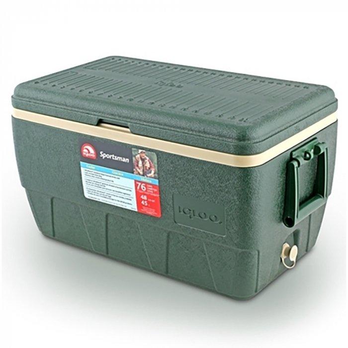 Изотермический контейнер Igloo Sportsman 52свыше 40 литров<br>Удобные и стильные термоконтейнеры Igloo Sportsman 52 отличаются качеством сохранения температуры и широкой областью применения. Незаменимы в поездках, транспортировке продуктов, медикаментов и косметических средств. Легко сохраняют тепло или холод до 39 часов (при использовании с аккумуляторами температуры). Контейнер имеет встроенный слив для конденсата. Надежная фиксация крышки и прочные ручки для переноски.  Все материалы экологически чистые и прекрасно моются.<br>Основные преимущества приобретения изотермического контейнера от торговой марки Igloo:<br><br>Современный привлекательный дизайн.<br>Удобные для транспортировки размеры.<br>Усиленная поворотная ручка с фиксацией.<br>Двойная UltraTherm   пенная изоляция корпуса и крышки<br>Литые ручки по бокам корпуса для удобства позрузки и разгрузки из багажника автомобиля.<br>Невероятно просты в уходе и очистке.<br>Идеальны для любителей активного отдыха, рыбалки, охоты и путешествий.<br><br>Серия изотермических контейнеров SPORTSMAN от известного американского бренда Igloo разработана специально для любителей спорта, активного отдыха или рыбалки. Все контейнеры имеют компактные размеры, что удобно для транспортировки. Все модели оснащены качественной теплоизоляцией, что позволяет сохранить необходимую температуру продуктов более длительный срок. Возможно использование аккумулятора холода (приобретается отдельно).  Стоит отметить, что производитель использует в производстве только качественные материалы, одобренные для эксплуатации с пищевыми продуктами. <br><br>Страна: США<br>Объем, л: 49,0<br>Мощность, Вт: Нет<br>Питание, В: Нет<br>Max температура, C: Нет<br>Min температура, C: Нет<br>Функция подогрева: Нет<br>Дельта t, C: Нет<br>Кабель питания: Нет<br>Назначение: Изотермический контейнер<br>ГабаритыВШД,мм: 368x371x654<br>Вес, кг: 4<br>Гарантия: 1 год