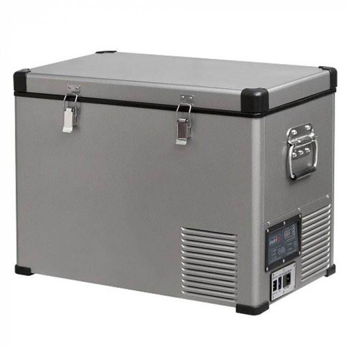 Автомобильный холодильник  Indel B TB60 STEEL41-140 литров<br>Электрический автомобильный холодильник INDEL B TB60 STEEL   это современный вместительный автохолодильник с компактным дизайнерским исполнением и отличными показателями энергоэффективности. Данная модель специально создана для долговременного использования при высоких уличных температурах, а также отлично защищена от физических воздействий. Передовая форма корпуса облегчает транспортировку устройства.<br><br>Страна: Италия<br>Объем, л: 60<br>Мощность, Вт: 45,0<br>Питание, В: 12/24/220<br>Max температура, C:: +10<br>Min темп., C: 18<br>Кабель питания: Есть<br>Назначение: Легковой автомобиль<br>Габариты ВxШxД, мм: 577x692x400<br>Вес, кг: 24<br>Гарантия: 3 года