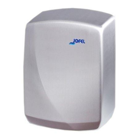 Сушилка для рук Jofel Futura 1930 Вт (AA16500)Скоростные сушилки для рук<br>Jofel (Хофел) Futura 1930 Вт (AA16500)   это электрическая сушилка для рук, представленная известной испанской компанией Jofel. Этот прибор имеет компактные размеры и малый вес, что позволяет его легко разместить даже в небольшой туалетной комнате. Корпус данной сушилки выполнен в современном дизайне, благодаря чему этот прибор станет не только полезным аксессуаром, но и стильным украшением интерьера санузла.<br>Особые преимущества сушилки для рук Jofel:<br><br>Корпус изготовлен из нержавеющей стали AISI 304<br>Автоматическое включение/отключение<br>Корпус защищен от попадания вовнутрь твердых и жидких веществ<br>Удобна в использовании<br>Долгий срок эксплуатации<br>Не требует сервисного обслуживания<br>Привлекательный дизайн корпуса<br>Широкая сфера применения<br><br><br>Электрические сушилки для рук Jofel серии  Futura  имеют два варианта исполнения корпуса   из нержавеющей стали марки AISI 304 и высокопрочного ABS-пластика. В зависимости от модели в этих приборах предусмотрено автоматическое включение и отключение (благодаря встроенному оптическому датчику с таймером), или же механическое (для управления работой электросушилки на ее корпусе установлена удобная кнопка). <br><br>Страна: Испания<br>Мощность, кВт: 1,93<br>Материал корпуса: Нерж. cталь<br>Поток воздуха м/с: 19<br>Степень защиты: IPX1<br>Цвет корпуса: Металлик<br>Объем воздушного потока, м3/час: 250<br>Минимальный уровень шума, дБа: 58<br>Средняя скорость высушивания, сек: 10<br>Температура воздушного потока, С: 55<br>Размеры, мм: 310х230х140<br>Вес, кг: 4<br>Гарантия: 1 год