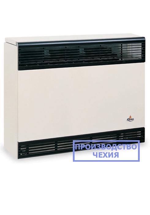 Газовый обогреватель Karma Бета 5 механикКонвекторы газовые<br>Karma (Карма) Бета 5 механик   это производительный газовый конвектор из высококачественной стали, оснащенный высокотехнологичными передовыми элементами комплектации и исполненный в привлекательном эргономичном корпусе. Представленная модель быстро и с высокой энергоэффективностью нагревает воздух в помещении, при этом практически не производя шума.<br>Особенности и преимущества газовых конвекторов Karma представленной серии:<br><br>Не сжигает кислород в помещении.<br>Закрытый цикл горения конвектора достигается герметичным теплообменником.<br>Имеет эстетичный внешний вид и компактные размеры.<br>Прибор работает почти бесшумно.<br>Возможность работы от магистрального газа или от баллона со сжиженным газом (жиклер в комплекте).<br>Не требует трубной разводки, поэтому исключены промерзания системы.<br>Установить конвектор проще и легче, чем водяную систему отопления.<br>Стальной теплообменник из высоколегированной жаропрочной стали, прошедший антикоррозийную гальваническую обработку и покрытый двухслойной термостойкой эмалью (1100  С).<br>Коаксиальный дымоход (труба в трубе) из сплава алюминия 98%, (алюминий выдерживает 660,3 C).<br>Запатентованная форма теплообменника обеспечивает высокую конвекцию для быстрого прогрева помещения.<br>Температура теплообменника 375-420  C.<br>КПД оборудования в зависимости от мощности от 87 до 92 %.<br>Возможность автоматической поддержки t в диапазоне 13-38  С.<br>Моментальная регулировка температуры воздуха в помещении механическим способом.<br>Итальянский газовый клапан Eurosit.<br>Итальянская горелка Worgas.<br>Современный стильный внешний облик.<br><br>Газовые конвекторы Karma серии Beta Mechanic представляют собой передовые отопительные устройства с надежной высокотехнологичной комплектацией и отличным классом энергоэффективности. Все модели рассматриваемой серии быстро и качественно нагревают воздух в обслуживаемом помещении, при этом заботясь о здоровье пользовател