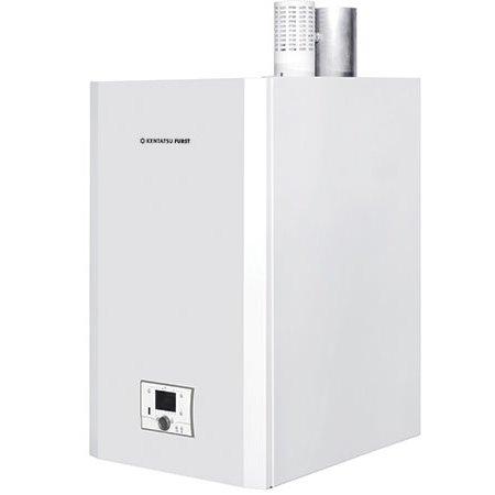 Котел Kentatsu Furst Impect-4/W100 кВт<br>Новейший конденсационный газовый котел модели Kentatsu Furst (Кентатсу Ферст) Impect-4/W поможет организовать комфортный микроклимат в помещениях в холодное время года с минимальными затратами топлива и электроэнергии. Представленное оборудование выполнено исключительно из надежных и высокопрочных материалов, что позволяет гарантировать долговечность котла.<br>Особенности и преимущества настенных конденсационных газовых котлов Kentatsu Furst серии Impect-W:<br><br>Энергосбережение за счет широкого соотношения модуляции 1:7.<br>Возможность объединить в каскад до 16 котлов с максимальной мощностью 2 992 кВт.<br>Возможность управления несколькими зонами нагрева.<br>Защита от замерзания и от появления бактерий.<br>Горелки с предварительным смешиванием имеют специальное волоконное покрытие.<br>Совместимость с протоколами связи BUS и Open Therm.<br>Простота установки, использования и обслуживания.<br>Возможность суточного и недельного программирования времени работы.<br>Реле минимального давления газа.<br>Используются в закрытых системах отопления с максимальным давлением 6 бар.<br><br>Линейка Impect-W &amp;nbsp;&amp;ndash; это высокоэкологичные конденсационные газовые котлы от компании Kentatsu Furst, оборудованные умным технологичным управлением и отличающиеся надежностью в работе и эффективным расходованием топлива. Такие изделия отлично подойдут для использования на различных жилых объектах, где важно организовать безопасное и стабильное отопление на многие годы.<br><br>Страна: Япония<br>Производство: Турция<br>Тип котла: Энергозависимые<br>Режим работы: Отопление<br>Камера сгорания: Закрытая<br>Горелка: Атмосферная<br>Max мощность, кВт: 94.0<br>Min мощность, кВт: 19.0<br>Max давление отопит контура , Атм: 6<br>Min давление отопит контура , Атм: 0.8<br>Расширительный бак: Нет<br>Циркуляционный насос: Нет<br>Встроенный накопительный бойлер: Нет<br>Возможность подключения бойлера ГВС: None<br>Тип теплообменника: Секционный<br>Ma