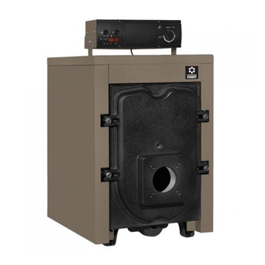 Котел Kentatsu Furst Orion 09150 кВт<br>Идеальный для складских помещений, производственных и промышленных сооружений, а также для жилых домов, комбинированный одноконтурный котел из чугуна с напольным типом монтажа Kentatsu Furst Orion 09 предназначен для организации эффективной и стабильной системы отопления, что позволит добиться теплового комфорта. Максимальная температура теплоносителя &amp;mdash; 90 градусов, объем бака &amp;mdash; 95 литров.<br>Достоинства и преимущества котлов отопления серии Orion от Kentatsu Furst:<br><br>Чугунные трехходовые водогрейные котлы Orion могут быть укомплектованы наддувными горелками.<br>Работают на газе, дизельном топливе или мазуте.<br>Три хода дымовых газов обеспечивают высокую эффективность котлов.<br>Поверхность теплообмена увеличена за счет дополнительных ребер в камере сгорания и в каналах отходящих дымовых газов, благодаря чему достигается высокий КПД.<br>Корпус котлов собран из секций, отлитых из специального чугуна, устойчивого к коррозии и термическим напряжениям.<br>Теплообменники котлов изолированы минеральной ватой толщиной 80 мм и экранированы алюминиевой фольгой для максимального снижения теплопотерь.<br>Серия Orion включает 4 модели котлов от 6 до 9 секций мощностью 93 &amp;mdash; 145 кВт соответственно. Котлы поставляются в сборе (одно грузовое место).<br>Оснащены выносным пультом управления.<br>Пульт позволяет управлять двухступенчатой горелкой и циркуляционным насосом контура отопления.<br><br>Комбинированные котлы Kentatsu Furst Orion &amp;mdash; это надежные и качественные изделия из категории теплового оборудования, которые смогут организовать благоприятные климатические условия в производственных или жилых сооружениях, где необходимо добиться теплового комфорта. Модели из данной серии необходимо подбирать с учетом конкретных пользовательских нужд.<br><br>Страна: Япония<br>Производство: Турция<br>Тип котла: Энергозависимые<br>Тип установки: Вертикальная<br>Режим работы: Отопление<br>Камера сгорания: Откры