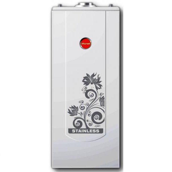 Котел Kiturami STSG-50 (Нержавеющая сталь, 58 кВт)50 кВт<br>Мощный газовый котел напольного типа модели Kiturami STSG-50 (Нержавеющая сталь, 58 кВт) представляет собой технологичное и практичное устройство с высоким классом эффективности и отличной внутренней комплектацией. Данная модель используется на объектах, где важно организовать безопасную и максимально стабильную и долговечную систему отопления, а также наладить приготовление горячей воды.<br>Особенности и преимущества напольных газовых котлов Kiturami:<br><br>Газовый напольный котел Kiturami STS GAS изготовлен из нержавеющей стали.<br>Котел двухконтурный, предназначен для отопления и горячего водоснабжения помещений площадью от 160 до 400 кв.м.<br>Сделанный из нержавеющей стали не подвержен коррозии и имеет срок эксплуатации более 10 лет.<br>Благодаря минимальным размерам легко устанавливается в небольшом помещении.<br>Теплообменник со специальным змеевиком позволяет избежать кипения, а горячая вода доступна в большом количестве.<br>В случае если Вы планируете использовать много горячей воды (диапазон регулировки 35-60 C ) на выносном пульте управления котла Kiturami STS Gas имеется кнопка с функцией подача горячей воды.<br>Также доступны функции дома, отсроченный пуск и защита от замерзания.<br>В котле Kiturami STS GAS установлена современная турбоциклонная горелка.<br>Применение турболизаторов - катализаторов досжига горючей смеси обеспечивает полное сгорание и высокую экономичность.<br>Безопасную эксплуатацию обеспечивают: контроль за сгоранием и температурным режимом.<br>Функция самодиагностики позволяет отследить сбои и неисправности при работе.<br><br>Котлы газовые напольные от компании Kiturami   это доступные, надежные и функциональные устройства, созданные для безопасного и комфортного использования как на участках жилого типа, так и на различных промышленных предприятиях. Такое оборудование характеризуется несравненной надежностью в работе, экономичностью и гарантированной производителем долговечн