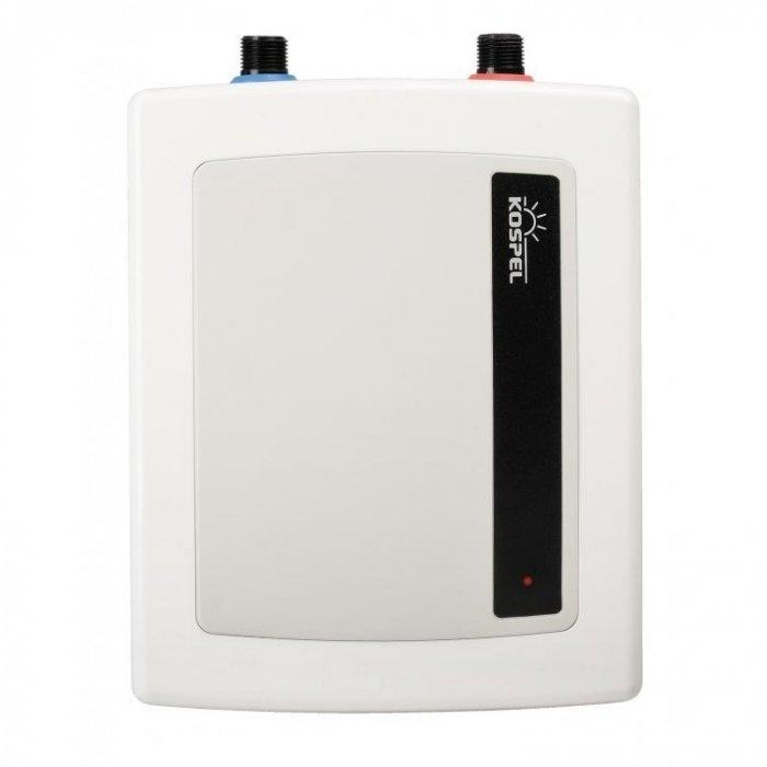 Водонагреватель Kospel EPO2-55 кВт<br>Электрический проточный водонагреватель компактного типа Kospel (Коспел) EPO2-5 отвечает современным требованиям к нагревательным системам, подходит под любой дизайн помещений. Система монтируется под бытовую мойку или раковину, оптимально потребляет электричество. Устройство оснащено специальным рассекателем, удобно в использовании. <br>Особенности и преимущества:<br><br>Идеальный водонагреватель для умывальника или мойки на кухне.<br>Универсальный монтаж. Возможность установки в любом положении: патрубками вверх или вниз, над или под умывальником<br>Добавлен к комплекту мелкоструйный рассекатель. Обеспечивает комфортное пользование и до 50% экономии воды и электроэнергии.<br>Степень защиты IP 24.<br>Давление воды 0,12 - 0,6 Мпа.<br><br>Все модели этой линейки обладают компактными размерами, устанавливаются под мойки или над ними, подходят под любой дизайн помещения. Все нагреватели оснащены прочными медными нагревательными элементами, мелкоструйными рассекателями, регулировочными клапанами.   <br><br>Страна: Польша<br>Производитель: Польша<br>Темп. нагрева, С: 60<br>Способ нагрева: Электрический<br>Производительность: 2,4<br>Мощность, кВт: 5,0<br>Защита от перегрева: Есть<br>LCD дисплей: Нет<br>Управление: Механическое<br>Тип установки: Настенная<br>Подводка: Нижняя<br>Комплектация: Нет<br>Тип подачи: Напорный<br>Напряжение сети, В: 220 В / 380 В<br>Габариты ШхВхГ, см: 22,8x22,1x8,7<br>Вес, кг: 3<br>Гарантия: 1 год<br>Ширина мм: 228<br>Высота мм: 221<br>Глубина мм: 87