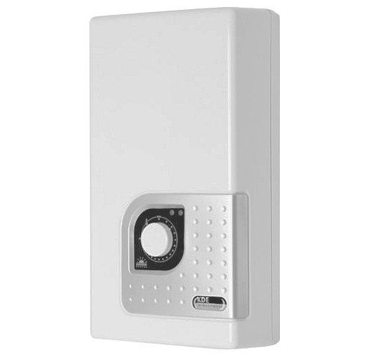 Электрический проточный водонагреватель Kospel8 кВт<br>Водонагреватель Kospel (Коспел) KDE 9 Bonus   это прибор, обеспечивающий подогрев проточной воды. Представленная модель может обслужить сразу несколько точек водоразбора. В качестве источника питания использует электрическую сеть. Монтируется агрегат на стену в вертикальном положении. Производитель позаботился о защите прибора от перегрева, снабдив его ограничителем температуры.<br>Особенности проточных электрических водонагревателей серии KDE Bonus от компании Kospel:<br><br>Потребление электроэнергии только в момент разбора горячей воды<br>Комплектующие, имеющие непосредственный контакт с водой, изготовлены из меди и латуни<br>Высококачественный датчик слежения за протоком воды (Honeywell), включающий водонагреватель уже при протоке 2,5 л/мин<br>Возможность выбора приоритетного включения при совместной работе с другими потребителями электроэнергии<br>Возможность догрева предварительно нагретой воды   последовательная работа с другим прибором нагрева воды<br>Электронная регулировка потребления мощности, зависимая от величины протока<br>Плавная регулировка и стабилизация температуры воды в диапазоне от 30  С до 60  С<br><br>Семейство проточных водонагревателей KDE Bonus, разработанное компанией Kospel, отличается эргономичностью конструкции и оптимальными техническими характеристиками. Все агрегаты оснащены медными нагревательными элементами, изготовленными по надежной, проверенной временем технологии, что гарантирует их долговечность. Kospel KDE Bonus могут быть подключены к другим водогрейным агрегатам, а переключение между ними будет осуществляться по принципу приоритета. Также стоит отметить, что устройства адаптированы к российским условиям работы: оснащены датчиком величины потока, что дает им возможность нормально функционировать даже при очень маленьком входном давлении.<br><br>Страна: Польша<br>Производитель: Польша<br>Темп. нагрева, С: 60<br>Способ нагрева: Электрический<br>Производительность: 4,3<br>М