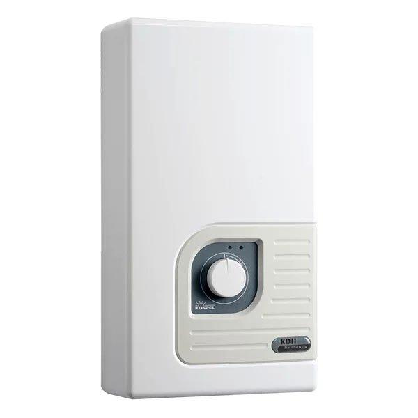 Водонагреватель Kospel KDH 12 Luxus12 кВт<br>Электрический проточный водонагреватель KDH 12 Luxus от компании Kospel обладает двумя ступенями мощности, позволяющими экономно расходовать электроэнергию и повышающими эффективность устройства. Также водонагреватель оснащен различными индикаторами, благодаря которому возможен полный контроль работы прибора, что существенно увеличивает показатели безопасности.<br>Особенности проточных электрических водонагревателей серии KDH Luxus  от компании Kospel:<br><br>Автоматическое включение водонагревателя при открытии крана горячей воды.<br>Потребление электроэнергии только в момент разбора горячей воды.<br>Комплектующие, имеющие непосредственный контакт с водой, изготовлены из меди и латуни.<br>Термический предохранитель защищает от прироста давления.<br>Переключатель ступеней мощности - полная мощность и 2/3 мощности.<br>Нагревательные элементы в блоке нагрева находятся в медных трубках.<br>Высокое качество и надежность водонагревателя.<br>подтверждены сертификатом VDE.<br>Давление воды на входе 0,15-0,6 Мпа.<br>Номинальное напряжение 380 В 3~.<br>Водные соединения G1/2 .<br>Степень защиты IP 24.<br><br>Стильные, производительные, удобные, функциональные, мощные, экономичные   про достоинства электрических водонагревателей проточного типа серии KDH Luxus  от компании Kospel можно говорить очень долго. Однако нельзя не отметить, что это современные агрегаты, которые с задачей подогрева воды справляются весьма успешно, при этом достаточно скромно потребляя электрическую энергию. Отдельного внимания заслуживает внешний облик: строгие линии в сочетании с плавными изгибами углов, белоснежная гамма вместе со стальным отблеском панели управления делают дизайн просто-таки универсальным, позволяя ему гармонично вписаться в любое современное интерьерное решение.<br><br>Страна: Польша<br>Производитель: Польша<br>Темп. нагрева, С: 60<br>Способ нагрева: Электрический<br>Производительность: 5,8<br>Мощность, кВт: 12,0<br>Защита от перегрева