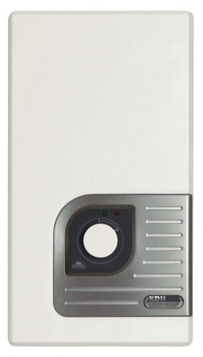 Водонагреватель Kospel KDH 21 Luxus18 кВт<br>Электрический проточный водонагреватель KDH 21 Luxus от известного производителя Kospel оснащен несколькими удобными индикаторами работы, благодаря которым эксплуатация устройства проходит с большим комфортом. Установка прибора осуществляется вертикально (настенно), подвод воды происходит снизу. Также присутствует функция автоматического включения.<br>Особенности проточных электрических водонагревателей серии KDH Luxus  от компании Kospel:<br><br>Автоматическое включение водонагревателя при открытии крана горячей воды.<br>Потребление электроэнергии только в момент разбора горячей воды.<br>Комплектующие, имеющие непосредственный контакт с водой, изготовлены из меди и латуни.<br>Термический предохранитель защищает от прироста давления.<br>Переключатель ступеней мощности - полная мощность и 2/3 мощности.<br>Нагревательные элементы в блоке нагрева находятся в медных трубках.<br>Высокое качество и надежность водонагревателя.<br>подтверждены сертификатом VDE.<br>Давление воды на входе 0,15-0,6 Мпа.<br>Номинальное напряжение 380 В 3~.<br>Водные соединения G1/2 .<br>Степень защиты IP 24.<br><br>Стильные, производительные, удобные, функциональные, мощные, экономичные   про достоинства электрических водонагревателей проточного типа серии KDH Luxus  от компании Kospel можно говорить очень долго. Однако нельзя не отметить, что это современные агрегаты, которые с задачей подогрева воды справляются весьма успешно, при этом достаточно скромно потребляя электрическую энергию. Отдельного внимания заслуживает внешний облик: строгие линии в сочетании с плавными изгибами углов, белоснежная гамма вместе со стальным отблеском панели управления делают дизайн просто-таки универсальным, позволяя ему гармонично вписаться в любое современное интерьерное решение.<br><br>Страна: Польша<br>Производитель: Польша<br>Темп. нагрева, С: 60<br>Способ нагрева: Электрический<br>Производительность: 10,1<br>Мощность, кВт: 21,0<br>Защита от перегрева: Есть<br>LC