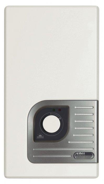 Водонагреватель Kospel KDH 24 Luxus24 кВт<br>Современный электрический водонагреватель проточного типа KDH 24 Luxus от Kospel изготовлен из высококачественных и прочных материалов, что гарантирует долгий срок эксплуатации прибора, также ТЭН выполнен из первоклассной меди, благодаря чему надежно защищает от накипи. Устройство оснащено удобным управлением и различными индикаторами работы, что существенно увеличивает комфорт при использовании.<br>Особенности проточных электрических водонагревателей серии KDH Luxus  от компании Kospel:<br><br>Автоматическое включение водонагревателя при открытии крана горячей воды.<br>Потребление электроэнергии только в момент разбора горячей воды.<br>Комплектующие, имеющие непосредственный контакт с водой, изготовлены из меди и латуни.<br>Термический предохранитель защищает от прироста давления.<br>Переключатель ступеней мощности - полная мощность и 2/3 мощности.<br>Нагревательные элементы в блоке нагрева находятся в медных трубках.<br>Высокое качество и надежность водонагревателя.<br>подтверждены сертификатом VDE.<br>Давление воды на входе 0,15-0,6 Мпа.<br>Номинальное напряжение 380 В 3~.<br>Водные соединения G1/2 .<br>Степень защиты IP 24.<br><br>Стильные, производительные, удобные, функциональные, мощные, экономичные   про достоинства электрических водонагревателей проточного типа серии KDH Luxus  от компании Kospel можно говорить очень долго. Однако нельзя не отметить, что это современные агрегаты, которые с задачей подогрева воды справляются весьма успешно, при этом достаточно скромно потребляя электрическую энергию. Отдельного внимания заслуживает внешний облик: строгие линии в сочетании с плавными изгибами углов, белоснежная гамма вместе со стальным отблеском панели управления делают дизайн просто-таки универсальным, позволяя ему гармонично вписаться в любое современное интерьерное решение.<br><br>Страна: Польша<br>Производитель: Польша<br>Темп. нагрева, С: 60<br>Способ нагрева: Электрический<br>Производительность: 11,6<br>Мощно