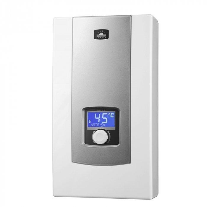 Водонагреватель Kospel PPE2-18/21/2424 кВт<br>Инновационная модель проточного водонагревателя Kospel (Коспел) PPE2-18/21/24 станет полезным приобретением для любого дома и небольшого офис. Для максимально комфортного управления в модели предусмотрено электронное управление и LCD экран. Допускается возможность запрограммировать максимальную температуру нагрева воды. Это функция особенно полезна для семей с маленькими детьми.<br>Особенности и преимущества:<br><br>Экран LCD. Позволяет просмотреть показатели температуры воды на входе и на выходе, величину протока и уровень включенной мощности.<br>3 мощности в одном водонагревателе. Возможность выбора максимальной мощности (не касается 27кВт).<br>Блокировка максимальной температуры. Возможность запрограммирования максимальной температуры, напр. для защиты детей от ожогов.<br>Электронное управление. Электронная система управления обеспечивает точную регулировку температуры воды в диапазоне 30 - 60 С.<br>Возможность догрева предварительно нагретой воды. Температура воды на входе до 70 С.<br>Память 3 наиболее часто используемых температур.<br><br>Что может быть удобней проточного водонагревателя, обеспечивающего непрерывную подачу горячей воды? Только проточный водонагреватель с электронным управлением и LCD экраном. Именно такие водонагреватели серии PPE2 electronic LCD предлагает вниманию потребителей известная польская компания Kospel. Современные технологии и качественные материалы довели всемирно известные нагреватели Kospel до совершенства.  <br><br>Страна: Польша<br>Производитель: Польша<br>Темп. нагрева, С: 60<br>Способ нагрева: Электрический<br>Производительность: 8,7/10,1/11,6<br>Мощность, кВт: 18/21/24<br>Защита от перегрева: Есть<br>LCD дисплей: Есть<br>Управление: Электронное<br>Тип установки: Настенная<br>Подводка: Нижняя<br>Комплектация: Нет<br>Тип подачи: Напорный<br>Напряжение сети, В: 380 В<br>Габариты ШхВхГ, см: 24,5x44x9,8<br>Вес, кг: 10<br>Гарантия: 1 год<br>Ширина мм: 245<br>Высота мм: 440<br>Глубина м