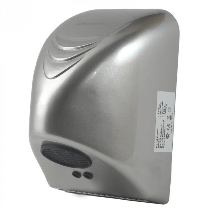 Сушилка для рук Ksitex M-1000 С (эл.сушилка для рук)Скоростные сушилки для рук<br>Ksitex (Кситекс) M-1000 С (эл.сушилка для рук) представляет собой экономичную модель электросушилки для рук, которая прекрасно подходит для использования в туалетных комнатах любых общественных заведений с высокой проходимостью. Высокая производительность по воздуху позволяет данному прибору эффективно удалять излишки влаги с поверхности рук менее чем за минуту.  <br>Особенности и преимущества сушилок для рук Ksitex:<br><br>Ударопрочный брызгозащищенный корпус<br>Быстрая сушка<br>Встроенный оптический датчик движения<br>Направленный поток воздуха<br>Автоматическое включение и отключение<br>Экономное электропотребление<br>Изготовлены из высококачественных материалов<br>Высокая производительность<br>Мощный тепловентилятор<br>Низкий уровень шума<br>Простота и удобство в эксплуатации<br>Простая установка<br>Современный дизайн<br>Длительный период службы<br><br>Электрические сушилки для рук производства компании Ksitex серии  M  имеют влагозащитное исполнение корпуса, благодаря которому вероятность выхода прибора из строя вследствие проникновения вовнутрь него воды сведена к минимуму. Во время работы данные сушилки потребляют довольно мало электроэнергии и издают немного шума. Кроме того, упрочненный корпус данных устройств способствует максимально долгому их эксплуатационному периоду.  <br><br>Страна: Китай<br>Мощность, кВт: 1<br>Материал корпуса: ABSпластик<br>Поток воздуха м/с: 7<br>Степень защиты: IP21<br>Цвет корпуса: Серебро<br>Объем воздушного потока, м3/час: 40<br>Минимальный уровень шума, дБа: 50<br>Средняя скорость высушивания, сек: 50<br>Температура воздушного потока, С: 4055<br>Размеры, мм: 218х142х145<br>Вес, кг: 1<br>Гарантия: 1 год
