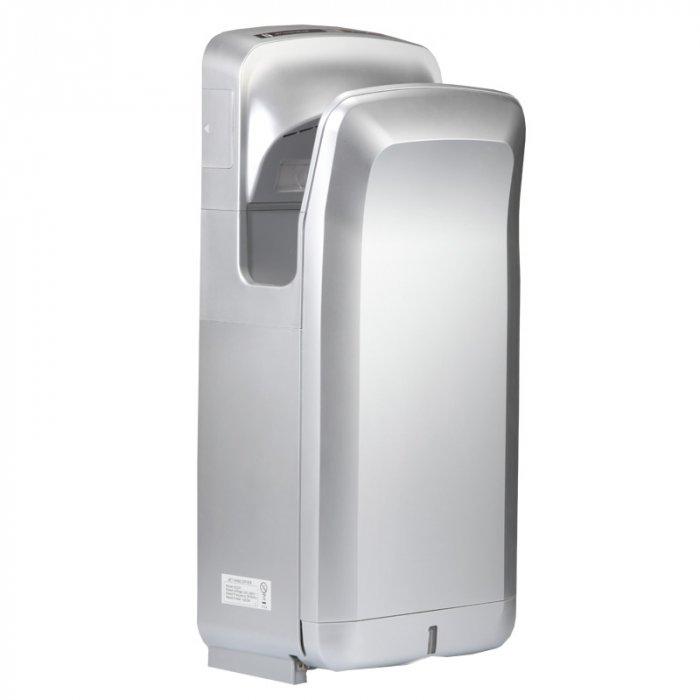 Скоростная сушилка для рук KsitexСкоростные сушилки для рук<br>Если Вы хотите предоставить возможность всем посетителям туалетной комнаты максимально быстро и гигиенично удалять с поверхности их рук излишки влаги после мытья, тогда лучшей альтернативой бумажным полотенцам будет установка высокоскоростной сушилки для рук модели Ksitex (Кситекс) M-7777С JET (хром,эл.сушилка для рук), которая отличается простотой и удобством в эксплуатации, а также высокой экономичностью.<br>Особенности и преимущества сушилок для рук Ksitex:<br><br>Ударопрочный брызгозащищенный корпус<br>Быстрая сушка<br>Встроенный оптический датчик движения<br>Направленный поток воздуха<br>Автоматическое включение и отключение<br>Экономное электропотребление<br>Изготовлены из высококачественных материалов<br>Высокая производительность<br>Мощный тепловентилятор<br>Низкий уровень шума<br>Простота и удобство в эксплуатации<br>Простая установка<br>Современный дизайн<br>Длительный период службы<br><br>Электрические сушилки для рук производства компании Ksitex серии  M  имеют влагозащитное исполнение корпуса, благодаря которому вероятность выхода прибора из строя вследствие проникновения вовнутрь него воды сведена к минимуму. Во время работы данные сушилки потребляют довольно мало электроэнергии и издают немного шума. Кроме того, упрочненный корпус данных устройств способствует максимально долгому их эксплуатационному периоду.  <br><br>Страна: Китай<br>Мощность, кВт: 1,9<br>Материал корпуса: ABSпластик<br>Поток воздуха м/с: 95<br>Степень защиты: IPX4<br>Цвет корпуса: Хром<br>Объем воздушного потока, м3/час: 158<br>Минимальный уровень шума, дБа: 78<br>Средняя скорость высушивания, сек: 7<br>Температура воздушного потока, С: 4565<br>Размеры, мм: 300х220х687<br>Вес, кг: 10<br>Гарантия: 1 год