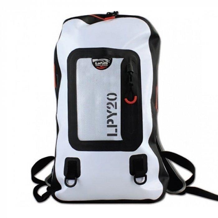 Сумка водонепроницаемая LaPlaya Back Pack 20 whiteСумки-холодильники<br>Если вы любите активный отдых, но боитесь, что ваш багаж может пострадать в походах от дождей или его зальет водой в лодке, то идеальным решением для вас станет водонепроницаемый рюкзак LaPlaya Back Pack 20 white. Благодаря современной технологии термосварки он обладает полной герметичностью. Оборудован специальными водонепроницаемыми молниями. Внутри имеется отдельный противоударный отсек для ноутбука. Рюкзак оборудован мягкими лямками и удобной спинкой. Модель выполнена в белом цвете. Материал легко моется.<br>Основные преимущества приобретения водонепроницаемой сумки от торговой марки LaPlaya:<br><br>Современный эргономичный дизайн.<br>Высокое качество материалов изготовления.<br>Метод термосварки обеспечивает 100% герметичность.<br>Водонепроницаемые молнии.<br>Легкий доступ к содержимому сумки.<br>Множество внешних и внутренних карманов для удобства размещения аксессуаров.<br>Светоотражающие элементы на ручках.<br>Съемный плечевой ремень для удобства переноски.<br>Высокая износоустойчивость.<br>Высокая оценка качества от немецкого производителя IPV Gmbh.<br>Идеальна для активного отдыха и путешествий.<br><br>Если вы являетесь любителем активного отдыха или не можете жить без путешествий, то вам придется по вкусу серия специализированных водонепроницаемых сумок DRY BAGS от торговой марки LaPlaya. Абсолютно все модели изготовлены из прочных материалов высокого качества, На выбор предоставлено несколько моделей, различных по дизайну, цветовому решению и вместительности. Инновационные технологии производства изделий LaPlaya позволили добиться полной герметичности и износоустойчивости, что подтверждает гарантия от производителя IPV Gmbh, в лаборатории которого проводится тестирование каждого изделия.<br><br>Страна: Германия<br>Объем, л: 20<br>Мощность, Вт: None<br>Питание, В: Нет<br>Темп. max, С: None<br>Темп. min, С: None<br>Габариты ВxШxД, мм: 520x320x120<br>Вес, кг: 1<br>Гарантия: 1 год<br>Каб