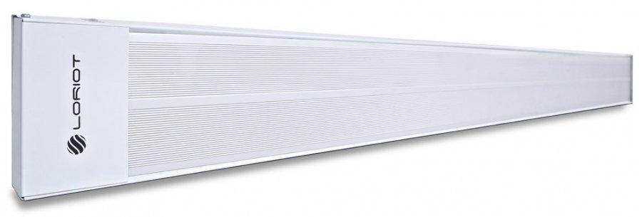 Инфракрасный обогреватель Loriot LI-0.80.8 кВт<br>Инфракрасный обогреватель Loriot LI-0.8 будет отличным вариантом организации локального обогрева в большом помещении или основного источника тепла в комнате площадью до 10 квадратных метров. Этот прибор предназначен для монтажа на потолке или стене и комплектуется набором универсальных кронштейнов, позволяющих производить установку обогревателя под любым удобным для пользователя углом.<br>Отличительные особенности инфракрасных обогревателей Loriot серии LI:<br><br>Закрытый ТЭН (трубчатый)<br>Стальной корпус<br>Потолочная установка<br>Излучатель - анодированный алюминий с продольным рифлением<br>Эффективный теплоотражающий экран с дополнительной изоляцией стенок корпуса<br>Класс электрозащиты I<br>Класс защиты IP 20<br>Набор кронштейнов в комплекте<br><br>Инфракрасные обогреватели Loriot (Лориот) серии LI оборудованы анодированным алюминиевым излучателем, имеющим продольное рифление. Благодаря увеличенной площади излучателя достигается повышение эффективности обогрева, а зона рассеивания инфракрасного излучения становится гораздо больше. Корпус данных ИК-обогревателей изготовлен из прочной листовой стали и покрыт специальным термостойким полимерным покрытием, благодаря чему этот прибор устойчив к ударам и долго сохраняет свой привлекательный внешний вид.<br><br>Страна: Россия<br>Производитель: Россия<br>Мощность, кВт: 0,8<br>Площадь, м?: 8<br>Класс защиты: IP20<br>Регулировка мощности: Нет<br>Встроенный термостат: Нет<br>Тип установки: Стена/Потолок<br>Отключение при перегреве: Нет<br>Пульт: Нет<br>Габариты ШВГ, см: 118x4,3x14,7<br>Вес, кг: 4<br>Гарантия: 2 года<br>Ширина мм: 1180<br>Высота мм: 43<br>Глубина мм: 147