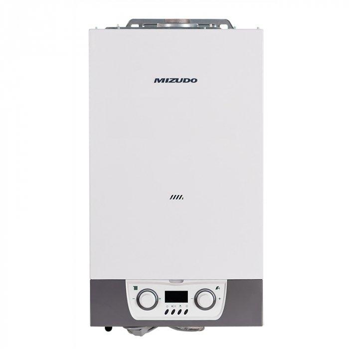 Котел MIZUDO 24ТB24 кВт<br>Настенный газовый котел модели MIZUDO 24ТB гармонично сочетает в себе современный дизайн и обширные функциональные возможности. Агрегат включает в общую комплектацию отлично зарекомендовавший себя на рынке битермический теплообменник. Прибор оснащен функцией самодиагностики и может работать в нескольких различных по мощности режимах. Настройки котла осуществляется пользователем с помощь панели управления на лицевой части корпуса.<br>Особенности и преимущества:<br><br>Малогабаритный, эргономичный дизайн.<br>Интуитивная панель управления.<br>Цветной LCD дисплей.<br>Качественная и надежная сборка.<br>Несколько вариантов мощности и исполнения модели.<br>Пластинчатый или битермический теплообменник.<br>Низкий уровень шума (до 32 Дб).<br>Оптимизация температуры отопления сокращает затраты на энергоносители.<br>Высокая производительность горячей воды.<br>Высокая ремонтопригодность, легкий доступ к узлам котла.<br>Качественные комплектующие, применяемые в европейских топ-брендах.<br>Несколько степеней безопасности:<br><br>Защита от замерзания.<br>Защита от утечки воды.<br>Защита от сухого поджига.<br><br><br><br>Настенные газовые котлы MIZUDO серии T(B) выполнены в компактных размерах и могут быть использованы для организации системы отопления в зданиях. Приборы выполнены в компактных размерах, поэтому быстро и удобно монтируются. Неприхотливую систему управления дополняют встроенные датчики контроля за функционированием приборов в реальном времени.<br><br>Страна: Китай<br>Производство: Китай<br>Тип котла: Энергозависимые<br>Режим работы: Отопление/ГВС<br>Камера сгорания: Закрытая<br>Горелка: Модулируемая<br>Max мощность, кВт: 24,0<br>Min мощность, кВт: 9,6<br>Max давление отопит контура , Атм: 3,0<br>Min давление отопит контура , Атм: None<br>Расширительный бак: Да<br>Циркуляционный насос: Да<br>Встроенный накопительный бойлер: Нет<br>Возможность подключения бойлера ГВС: Нет<br>Тип теплообменника: Битермический<br>Max давление в контуре ГВС, Атм 
