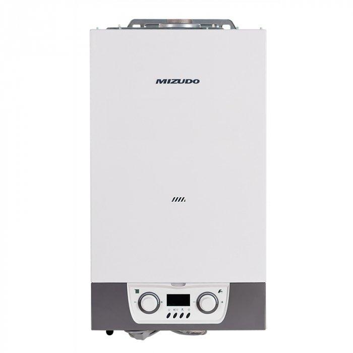 Котел MIZUDO 26Т24 кВт<br>Модель газового котла MIZUDO 26Т монтируется настенным способом и оснащена пластинчатым теплообменником. Оборудование выполнено в эргономичном дизайне и считается малогабаритным. Применяется прибор для создания системы отопления в зданиях различных конфигураций. Настройки функционирования котла регулируются пользователем с помощью панели управления.<br>Особенности и преимущества:<br><br>Малогабаритный, эргономичный дизайн.<br>Интуитивная панель управления.<br>Цветной LCD дисплей.<br>Качественная и надежная сборка.<br>Несколько вариантов мощности и исполнения модели.<br>Пластинчатый или битермический теплообменник.<br>Низкий уровень шума (до 32 Дб).<br>Оптимизация температуры отопления сокращает затраты на энергоносители.<br>Высокая производительность горячей воды.<br>Высокая ремонтопригодность, легкий доступ к узлам котла.<br>Качественные комплектующие, применяемые в европейских топ-брендах.<br>Несколько степеней безопасности:<br><br>Защита от замерзания.<br>Защита от утечки воды.<br>Защита от сухого поджига.<br><br><br><br>Настенные газовые котлы MIZUDO серии T(B) выполнены в компактных размерах и могут быть использованы для организации системы отопления в зданиях. Приборы выполнены в компактных размерах, поэтому быстро и удобно монтируются. Неприхотливую систему управления дополняют встроенные датчики контроля за функционированием приборов в реальном времени.<br><br>Страна: Китай<br>Производство: Китай<br>Тип котла: Энергозависимые<br>Режим работы: Отопление/ГВС<br>Камера сгорания: Закрытая<br>Горелка: Модулируемая<br>Max мощность, кВт: 26,0<br>Min мощность, кВт: 10,4<br>Max давление отопит контура , Атм: 3,0<br>Min давление отопит контура , Атм: None<br>Расширительный бак: Да<br>Циркуляционный насос: Да<br>Встроенный накопительный бойлер: Нет<br>Возможность подключения бойлера ГВС: Нет<br>Тип теплообменника: Пластинчатый<br>Max давление в контуре ГВС, Атм : 8,0<br>Min давление в контуре ГВС, Атм : 0,2<br>Производительность 916; ГВС 30С, 