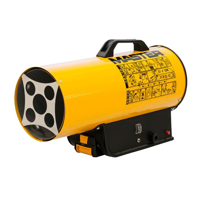 Газовая пушка прямого нагрева Master BLP 17M DCГазовые пушки<br>Мобильная и комфортная в эксплуатации газовая пушка прямого нагрева для гаража MASTER BLP 17M DC сочетает в себе высокую производительность и крайне экономичное энергопотребление.<br>Пушка прямого нагрева для гаража может работать специальной батареи 3mAh модели MASTER BAT3, предназначенной и выпускаемой специально для данных тепловых пушек, при этом устройство так же может успешно работать от электросети с напряжением 220, 110 или 12 В.Все это позволяет использовать оборудование практически в любых условиях, создавая для пользователей необходимые условия для выполнения своих задач.<br><br>Страна: США<br>Тип: Газовый<br>Мощность, кВт: 16<br>Площадь, м?: 160<br>Скорость потока м/с: None<br>Расход топлива, кг/час: 1,16<br>Расход воздуха, мsup3;/ч: 300<br>Нагревательный элемент: Трубчатый<br>Вместимость бака, л: None<br>Регулировка температуры: Есть<br>Вентиляция без нагрева: Есть<br>Настенный монтаж: Нет<br>Влагозащитный корпус: Нет<br>Напряжение, В: 220 В<br>Вилка: None<br>Размеры ВхШхГ, см: 55х23х30<br>Вес, кг: 5<br>Гарантия: 1 год