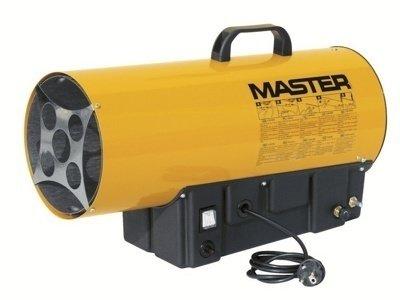 Тепловая пушка Master BLP 17 MГазовые пушки<br>Газовая тепловая пушка Master BLP 17 M   прибор, служащий для быстрого общего или зонального обогрева или просушки помещений. Идеально подходит для использования в хорошо проветриваемых помещениях   это могут быть складские помещения, фабрики, стройплощадки и другие помещения. Отличительными свойствам этой модели являются ручной поджиг, осуществляемый нажатием кнопки с пьезоэлементом, защита от перегрева, регулируемая тепловая мощность.<br>Особенности рассматриваемой модели газовой тепловой пушки прямого нагрева от торговой марки Master:<br><br>Удобный эргономичный дизайн и габаритные размеры.<br>Деликатный обогрев.<br>Износостойкое прошковое покрытие корпуса.<br>Качественные материалы изготовления и сборки.<br>Прочность конструкции.<br>Простая и понятная система управления.<br>Прибор оборудован мощным вентилятором.<br>Пушка данной модели оборудована встроенный термостатом.<br>Возможность подключения комнатного термостата (опция).<br>Удобная ручка для переноски.<br>Превосходная теплоизоляция корпуса.<br>Электродвигатель оснащен системой защиты от перегрева.<br>Устойчивость, мобильность и простота технического обслуживания.<br><br>Газовые тепловые пушки прямого нагрева от торговой марки из России Master серии BLP M способны качественно и деликатно осуществить обогрев помещений большого объема, а также просушить или осуществить локальный обогрев какого-то конкретного участка помещения.  Все приборы имеют небольшие размеры и вес, что позволяет самодеятельно транспортировать изделие туда, где необходима его работа. Пушка совершенно экологически безопасна, благодаря чему получила широкий спрос на эксплуатацию в оранжереях и теплицах. Для защиты от перегрева изделий предусмотрен термостат, автоматически отключающий работу и гарантирующий абсолютную пожаробезопасность устройств.<br><br>Страна: США<br>Тип: Газовый<br>Мощность, кВт: 16,0<br>Площадь, м?: 160<br>Скорость потока м/с: None<br>Расход топлива, кг/час: 1,16<br>Расход в