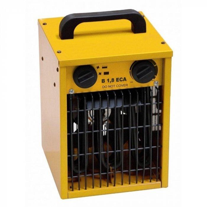 Тепловая пушка Master B 1,8 ECA2 кВт<br>Master (Мастер) B 1,8 ECA представляет собой модель электрической тепловой пушки, которая разработана для обслуживания помещений площадью до 20 м2. Агрегат работает на прямом способе обогрева, при этом, не сжигая кислород в помещении. На компактном корпусе модели расположена удобная ручка, которая обеспечивает легкое перемещение устройства в случае необходимости.<br>Особенности и преимущества:<br><br>Эффективный ТЭН   обеспечивает мгновенный нагрев;<br>Защита от перегрева   для безопасного использования;<br>Прочная конструкция   надежно защищает от механических повреждений;<br>Рукоятка на корпусе   для удобной переноски;<br>Небольшие габариты   обеспечивают удобное хранение.<br><br>Электрические тепловые пушки Master серии B разработаны для обогрева помещений и для просушки свежеокрашенных и отштукатуренных стен. Модели отличаются компактной конструкцией, что позволяет использовать их в качестве аварийного или дополнительного обогрева. Все модели изготовлены из высокопрочных материалов, которые обеспечивают долгий срок службы оборудования.<br><br>Страна: Италия<br>Производитель: Китай<br>Тип: Напольная<br>Площадь, м?: 20<br>Мощность, кВт: 2,0<br>Скорость потока м/с: None<br>Расход топлива, кг/час: None<br>Расход воздуха, мsup3;/ч: 184<br>Нагревательный элемент: Трубчатый<br>Вместимость бака, л: None<br>Регулировка температуры: Есть<br>Вентиляция без нагрева: Есть<br>Настенный монтаж: Нет<br>Влагозащитный корпус: Да<br>Напряжение, В: Нет<br>Вилка: Есть<br>Размеры ВхШхГ, см: 21x33x19,7<br>Вес, кг: 4<br>Гарантия: 1 год