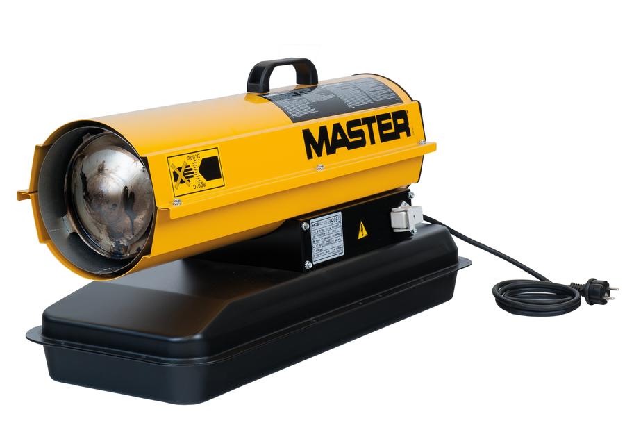 Тепловая пушка Master B 35 CEDДизельные пушки<br>Модель дизельного тепловой пушки MASTER B 35 SED   удачное решение для хозяйственных или полупромышленных помещений, где необходимо экстренно повысить температуру воздуха или постоянно поддерживать на заданном уровне, применяя прибор в роли основного или дополнительного источника тепла.<br>Два топливных фильтра, очищающих топливо перед подачей на горелку, исключают образование копоти или дыма, а также продлевают работу горелки без ее засорения.<br>Система контроля пламени исключает утечку топлива при аварийном затухании горелки.<br>Особенности прибора:<br><br>Высокая продуктивность обогрева помещений<br>Прямой нагрев воздуха<br>Интенсивный воздушный поток<br>Горелка с регулятором тепловой производительности<br>Система контроля пламени<br>Фотоэлемент, интегрированный в систему контроля пламени<br>Электронная стабилизация пламени на горелке<br>Защита от перегревов<br>Тепловая изоляция на двигателе вентилятора и корпусе прибора<br>Рабочая камера из нержавеющей стали<br>Два топливных фильтра<br>Топливный бак, интегрированный в конструкцию прибора<br>Простота ремонта и обслуживания<br>Прочное и износоустойчивое покрытие корпуса<br>Простота перемещения<br>Удобная не нагревающаяся ручка для переноски прибора<br>Аккуратный и простой дизайн<br><br> <br>Серия дизельных тепловых пушек MASTER B SED представляет собой экономные и долговечные, эффективные и простые в эксплуатации приборы в линейке различных мощностей. Благодаря прямому нагреву воздуха, все тепло, полученное от сжигания топлива, поставляется в воздушную массу помещения, благодаря чему КПД предельно близок к 100%.<br>Интенсивный воздушный поток, создаваемый мощным вентилятором, быстро распространяет тепло по всему помещению, за считанные минуты доводя климат до нужного температурного режима.<br>Горелка с регулятором тепловой производительности поможет без излишних усилий контролировать и расход топлива, и температурный режим в помещении, задавая оптимально соотношени