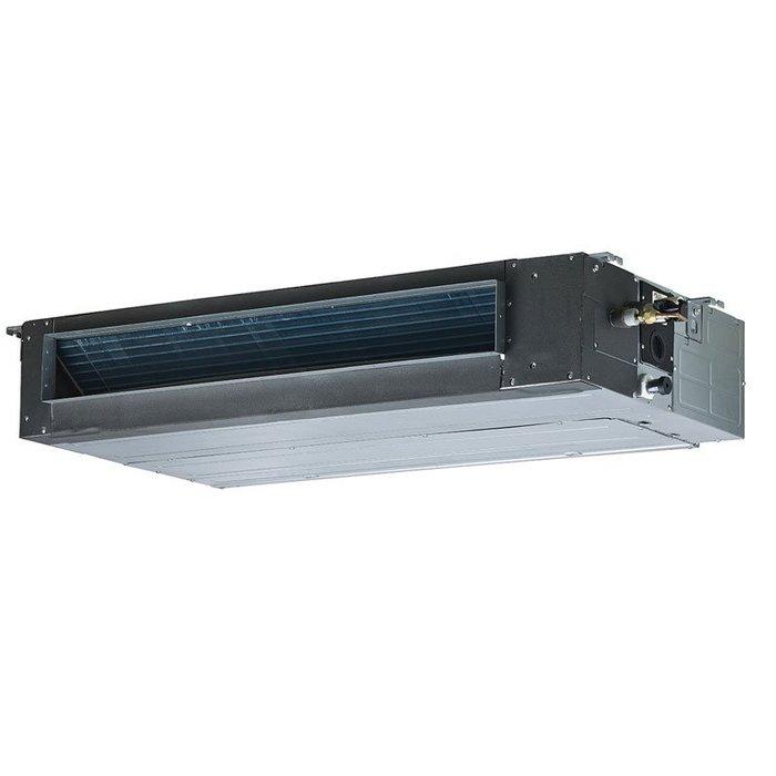 Канальный кондиционер Mdv MDTB-24HWN1/MDOU-24HN17.0 кВт - 24 BTU<br>Ультрасовременный канальный кондиционер Mdv (Мдв) MDTB-24HWN1/MDOU-24HN1 поможет изменить температурные характеристики воздуха в помещениях и эффективно нормализует уровень влажности. Также представленное оборудование положительно воздействует на качество обрабатываемого воздуха, что обуславливается установленной в нем передовой фильтрационной системой.<br>Особенности и преимущества средненапорных сплит-систем канального типа Mdv серии MDTB:<br><br>Предустановленный низкотемпературный комплект обеспечивает работу кондиционера при температуре наружного воздуха до -25 С. В межсезонье, при уличной температуре от +15 С до +5 С сохраняется 100% холодопроизводительность, что особенно актуально для помещений коммерческого назначения (например, магазины).<br>Два направления входа воздуха. Для подачи свежего воздуха в помещение на корпусе есть специальные отверстия, нет необходимости в дополнительной вентиляционной решетке.<br>Цифровой дисплей для отображения информации для удобства пользователя при работе с кондиционером.<br>Дренажная помпа для отвода конденсата на высоту до 750 мм предотвращает застаивание жидкости в дренажной системе.<br>Подключение к системам охранно-пожарной сигнализации. Позволяет дистанционно выключать и включать кондиционер, также может быть использовано для управления кондиционером с внешнего таймера.<br>Автоматический перезапуск. В случае непредвиденного отключения кондиционера из-за сбоя питания, после возобновления подачи электроэнергии кондиционер MDV продолжает свою работу и автоматически возвращается к ранее установленным настройкам.<br><br>Передовые сплит-системы канального типа средненапорные Mdv серии MDTB   это высококлассные полупрофессиональные агрегаты с новейшей комплектацией и широким функциональным оснащением. Кондиционеры данной линейки отличается стабильной высокой производительностью и бесшумной работой. В каждой модели установлена эффективная система фильтрации в