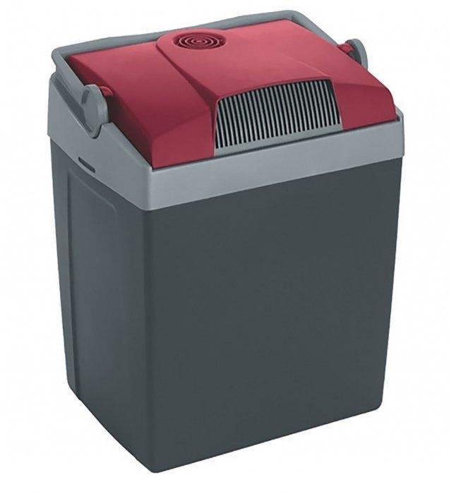 Термоэлектрический автохолодильник Mobicool G26 AC/DC21-30 литров<br>Mobicool (Мобикул) G26 AC/DC представляет собой компактный автохолодильник термоэлектрического типа, обеспечивающий охлаждение на 20 градусов ниже температуры наружного воздуха. Модель в качестве источника питания может использовать как бытовую сеть 220 В, так и бортовую сеть 12 В. Устройство отличается большой вместительностью, обладает высоким классом энергоэффективности, оборудовано удобной ручки для простоты переноски. Корпус агрегата изготовлен из прочного ABS-пластика, а термоизоляция выполнена из вспененного полиуретана.<br>Особенности и преимущества представленной модели термоэлектрического холодильника от компании Mobicool:<br><br>Термоэлектрический минихолодильник для отдыха, работы и путешествий.<br>Корпус выполнен из серебристого пластика.<br>Изоляцией служит пенополиуретан.<br>Двойная система охлаждения<br>Вмещает вертикально бутылки до 2-х литров<br>Ударопрочный пластик<br>Фиксация крышки ручкой<br>Бесшумная работа<br>Максимальное охлаждение: до 20 &amp;deg;С ниже температуры окружающей среды.<br>Удобная транспортировка.<br>Простой уход и обслуживание.<br><br>Любите путешествовать? При этом заботитесь о полноценном питании? Тогда автомобильные холодильники термоэлектрического типа от торговой марки Mobicool станут отличным приобретением. Эти компактные устройства смогут сохранить продукты свежими, а напитки прохладными на протяжении длительного времени. При этом агрегаты потребляют минимум электрической энергии и могут использовать бортовую электросеть в качестве источника питания. В онлайн-каталоге mircli.ru&amp;nbsp;представлен широкий ассортимент термоэлектрических холодильников Mobicool по привлекательной цене.<br><br>Страна: Германия<br>Объем, л: 25<br>Мощность, Вт: 48,0<br>Питание, В: 12/220<br>Max температура, C: +15<br>Min температура, C: +1<br>Функция подогрева: None<br>Дельта t, C: 20<br>Кабель питания: Есть<br>Назначение: Автохолодильник<br>ГабаритыВШД,мм: 395x396х296<br>Ве