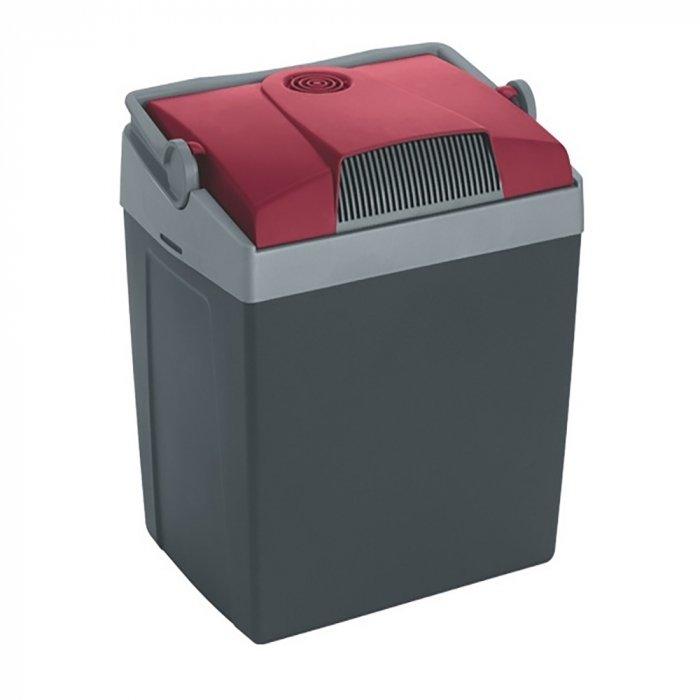 Термоэлектрический автохолодильник Mobicool G26 DC21-30 литров<br>Термоэлектрический автохолодильник Mobicool (Мобикул) G26 DC оснащен вместительной охлаждающей камерой, в которой легко разместятся даже двухлитровые бутылки с напитками. Агрегат быстро достигает нужной температуры охлаждения благодаря наличию двух вентиляторов. Удобная конструкция, предусматривающая ручку, позволяет с легкостью транспортировать агрегат. Высокий класс энергоэффективности обуславливает скромных расход электрической энергии.<br>Особенности и преимущества представленной модели термоэлектрического холодильника от компании Mobicool:<br><br>Термоэлектрический минихолодильник для отдыха, работы и путешествий.<br>Корпус выполнен из серебристого пластика.<br>Изоляцией служит пенополиуретан.<br>Двойная система охлаждения<br>Вмещает вертикально бутылки до 2-х литров<br>Ударопрочный пластик<br>Фиксация крышки ручкой<br>Бесшумная работа<br>Максимальное охлаждение: до 20  С ниже температуры окружающей среды.<br>Удобная транспортировка.<br>Простой уход и обслуживание.<br><br>Любите путешествовать? При этом заботитесь о полноценном питании? Тогда автомобильные холодильники термоэлектрического типа от торговой марки Mobicool станут отличным приобретением. Эти компактные устройства смогут сохранить продукты свежими, а напитки прохладными на протяжении длительного времени. При этом агрегаты потребляют минимум электрической энергии и могут использовать бортовую электросеть в качестве источника питания. В онлайн-каталоге mircli.ru представлен широкий ассортимент термоэлектрических холодильников Mobicool по привлекательной цене.<br><br>Страна: Германия<br>Объем, л: 25<br>Мощность, Вт: 48,0<br>Питание, В: 12<br>Max температура, C: +15<br>Min температура, C: +1<br>Функция подогрева: None<br>Дельта t, C: 20<br>Кабель питания: Есть<br>Назначение: Автохолодильник<br>ГабаритыВШД,мм: 395x396х296<br>Вес, кг: 4<br>Гарантия: 1 год