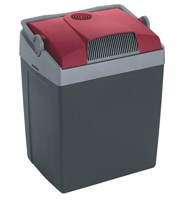 Термоэлектрический автомобильный холодильник Mobicool G30 DC21-30 литров<br>Компактный термоэлектрический автохолодильник Mobicool (Мобикул)G30 DC станет отличным спутником на отдыхе или в поездках. Модель использует принцип Пельтье для обеспечения снижения температуры в охлаждающей камере. Отличается устройство эргономичной конструкцией, высоким качеством исполнения и экономичным энергопотреблением. Холодильник может с легкостью вместить не только продукты питания. Но и бутылки с напитками.<br>Особенности и преимущества представленной модели термоэлектрического холодильника от компании Mobicool:<br><br>Термоэлектрический минихолодильник для отдыха, работы и путешествий.<br>Корпус выполнен из ударопрочного пластика.<br>Изоляцией служит пенополиуретан.<br>Двойная система охлаждения<br>Вмещает вертикально бутылки до 2-х литров<br>Бесшумная работа<br>Максимальное охлаждение: до 20  С ниже температуры окружающей среды.<br>Удобная транспортировка.<br>Простой уход и обслуживание.<br><br>Любите путешествовать? При этом заботитесь о полноценном питании? Тогда автомобильные холодильники термоэлектрического типа от торговой марки Mobicool станут отличным приобретением. Эти компактные устройства смогут сохранить продукты свежими, а напитки прохладными на протяжении длительного времени. При этом агрегаты потребляют минимум электрической энергии и могут использовать бортовую электросеть в качестве источника питания. В онлайн-каталоге mircli.ru представлен широкий ассортимент термоэлектрических холодильников Mobicool по привлекательной цене.<br><br>Страна: Германия<br>Объем, л: 29<br>Мощность, Вт: 48,0<br>Питание, В: 12<br>Max температура, C: None<br>Min температура, C: None<br>Функция подогрева: None<br>Дельта t, C: 20<br>Кабель питания: Есть<br>Назначение: Автохолодильник<br>ГабаритыВШД,мм: 445x396х296<br>Вес, кг: 5<br>Гарантия: 1 год