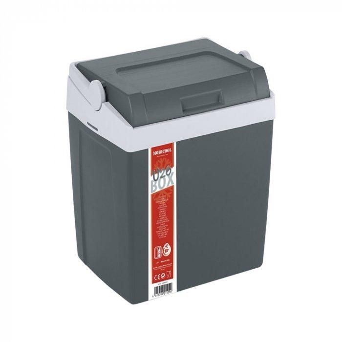 Изотермический контейнер Mobicool U26 EPS21-30 литров<br>Изотермический контейнер Mobicool (Мобикул) U26 EPS от известного немецкого бренда предназначен специально для хранения холодных или горячих продуктов. Конструкция представленной модели весьма эргономична: предусматривает ручку для удобства переноски, а также крышку, которая легко снимается и может служить в качестве столика. Работает агрегат &amp;nbsp;по принципу термоса, а чтобы продлить срок сохранения температуры внутри контейнера, вы можете приобрести специальные аккумуляторы холода или тепла.<br>Особенности и преимущества представленной модели сумки-холодильника от компании Mobicool:<br><br>Хранит как тепло, так и холод, что позволяет использовать изотермический контейнер в любое время года.<br>Большой рабочий объем. Объем контейнера составляет 25 литров, что позволяет с успехом разместить в нем приличный запас продовольствия.<br>Качественные материалы, которые использовались при его изготовлении, надежно сохранят Ваши продукты.<br>Крышка-столик. Перевернув крышку контейнера, Вы получите удобный столик для пикника.<br>Ручка-фиксатор. При помощи ручки для переноса крышка контейнера надежно фиксируется, что предотвращает его произвольное открывание.<br><br>Сумки-холодильники представляют собой удобные и компактные изотермические контейнеры, которые работают по принципу термоса. Такая сумка может сохранять не только холод, но и тепло. В интернет-магазине MirCli в широком ассортименте представлены сумки-холодильники от торговой марки Mobicool - известного немецкого бренда, продукция которого популярна как на иностранном, так и на российском рынке. Компания-производитель использует для своих контейнеров исключительно качественные материалы, что обуславливает их высокую износоустойчивость.<br><br>Страна: Германия<br>Объем, л: 26,0<br>Мощность, Вт: Нет<br>Питание, В: Нет<br>Кабель питания: Нет<br>Назначение: Изотермический контейнер<br>Вес, кг: 4<br>Гарантия: 1 год