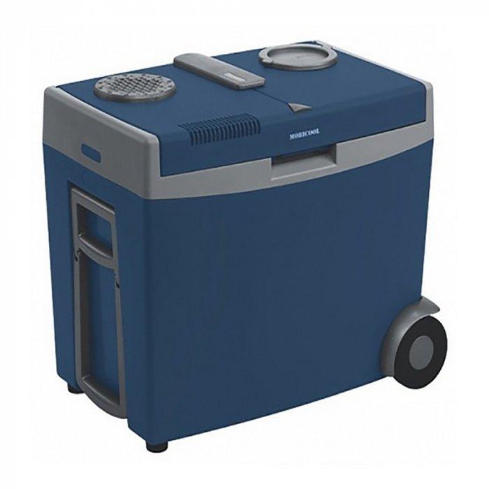 Термоэлектрический автохолодильник Mobicool W35 AC/DC31-40 литров<br>Mobicool (Мобикул) W35 AC/DC   это компактный и невероятно удобный автохолодильник термоэлектрического типа с функцией подогрева. Представленный агрегат оснащен удобным отсеком для хранения бутылок с водой, доступ к которому производится без открытия крышки. Также холодильник оборудован колесиками и складной ручкой, которые обеспечивают комфорт транспортировки прибора. Стоит упомянуть и об экономичности в энергопотреблении, безопасности прибора и длительном сроке службы.<br>Особенности и преимущества представленной модели термоэлектрического холодильника от компании Mobicool:<br><br>Термоэлектрический минихолодильник для отдыха, работы и путешествий.<br>Корпус выполнен из ударопрочного пластика.<br>Изоляцией служит пенополиуретан.<br>Прочная ручка для удобства транспортировки, а также поддерживает крышку в открытом положении и фиксирует в закрытом положении.<br> Класс энергопотребления A.<br>Охлаждение на 20  ниже температуры окружающей среды.<br>Удобная транспортировка.<br>Простой уход и обслуживание.<br><br>Любите путешествовать? При этом заботитесь о полноценном питании? Тогда автомобильные холодильники термоэлектрического типа от торговой марки Mobicool станут отличным приобретением. Эти компактные устройства смогут сохранить продукты свежими, а напитки прохладными на протяжении длительного времени. При этом агрегаты потребляют минимум электрической энергии и могут использовать бортовую электросеть в качестве источника питания. В онлайн-каталоге mircli.ru представлен широкий ассортимент термоэлектрических холодильников Mobicool по привлекательной цене.<br><br>Страна: Германия<br>Объем, л: 35<br>Мощность, Вт: 48,0<br>Питание, В: 12/220<br>Max температура, C: +15<br>Min температура, C: +1<br>Функция подогрева: Есть<br>Дельта t, C: 20<br>Кабель питания: Есть<br>Назначение: Автохолодильник<br>ГабаритыВШД,мм: 585x395x500<br>Вес, кг: 12<br>Гарантия: 1 год