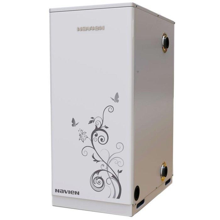 Котел Navien LFA-21K21 кВт<br>Котёл Navien (Навьен) LFA-21 K. Мощность 21кВт. Работает на дизеле. Устанавливается на полу. Предназначен для отопления и снабжения горячей водой дома. Высококачественный. Удобство и простота установки и использования. Уровень шума минимален. Пользуется высоким спросом на отечественном рынке. Надежный и красивый корпус подойдет для любого помещения.<br>Особенности и преимущества двухконтурного котла серии LFA-K:<br><br>Неизменный тепловой КПД в 91 % сэкономит расходы на  топливо.<br>Подходит для низкотемпературного отопления полов.<br>Трубы с двухсторонним соединением.<br>Бесшумная работа, отсутствие вибрации<br>Теплообменник из нержавеющей стали<br>Сверхпрочная конструкция<br>Простота в эксплуатации, установке и обслуживании<br>Низкие расходы на техническое обслуживание <br><br>Высокий коэффициент полезного действия, отличное качество исполнения из надежных материалов, долговечность, простота эксплуатации   все это положительные качества, которыми обладают дизельные напольные котлы из серии LFA-K, разработанные производственной компанией NAVIEN. Представленное оборудование очень экономично в использовании и будет идеально работать в российских условиях.<br><br>Страна: Корея<br>Производство: Корея<br>Тип котла: Энергозависимые<br>Режим работы: Отопление/ГВС<br>Камера сгорания: Закрытая<br>Материал теплобмненника: Сталь<br>Количество секций, шт: None<br>Полезная мощность Газ, кВт: None<br>Тип установки: Напольная<br>Мощность ДТ, кВт: 21.0<br>Max давление отопит контура , Атм: 3.0<br>Min давление отопит контура, Атм: 0.3<br>Возможность подключения бойлера ГВС: None<br>Присоединительный диаметр дымохода, мм: 75<br>Присоединительный диаметр  контур отопления , дюйм: 1<br>ГабаритыВШГ, см: 75.4x32x52<br>Вес, кг: 51<br>Гарантия: 2 года