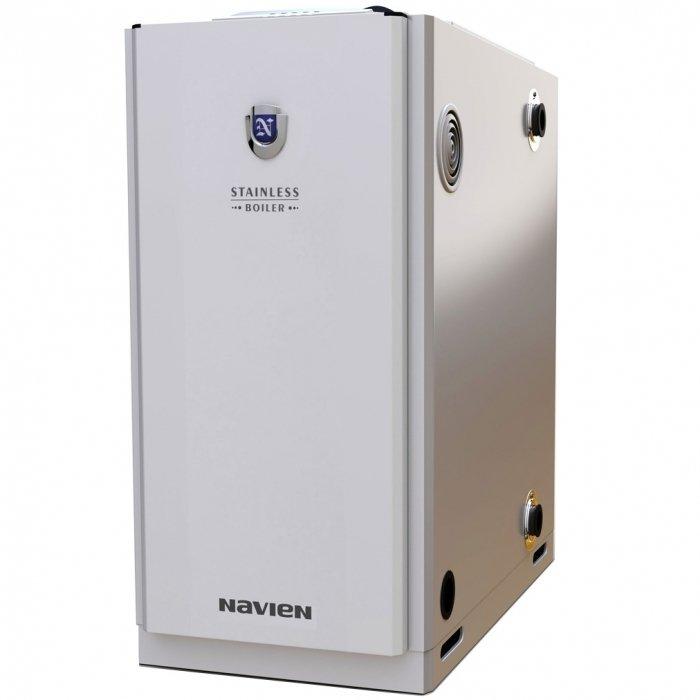 Котел Navien LST-60KG50 кВт<br>Дизельный котел Navien (Навиен) LST-60KG поможет создать комфортный микроклимат в обслуживаемом помещении, а также обеспечить его бесперебойной подачей горячей воды. Конструкция оборудования изготовлена из высокопрочных материалов, защищающих составляющие котла от внешнего воздействия. Также, устройство оснащено системой защиты от перепадов напряжения.<br>Особенности и преимущества:<br><br>Европейский дизайн: дизельные котлы Navien LST-K(KR) выполнены в европейском дизайне и имеют прямоугольную форму, малые габариты и небольшой вес.<br>Рациональная конструкция: для удобства монтажа, присоединительные патрубки расположены с обеих сторон котла, что в значительной степени упрощает его установку.<br>Универсальная система дымоудаления: ентилятор надувной горелки котла создает дополнительный напор, позволяющий выводить дымоотводящую трубку как в существующий дымоход, так и через наружную стену.<br>Высокоэффективный теплообменник горячего водоснабжения: встроенный теплообменник ГВС специальной конструкции способен обеспечить горячей водой даже самую большую семью. Вам не придется нести дополнительные затраты на бойлер или водонагревательную колонку-все это уже встроено в котел.<br>Теплообменник из нержавеющей стали: теплообменник из высококачественной нержавеющей стали фактически не подвержен коррозии, что значительно увеличивает срок службы котла.<br>Защита от перепадов напряжения: чип SMPS (Switched Mode Power Supply) на микропроцессоре защищает котел от перепадов напряжения в электросети в пределах  30% от 230 В. Котел при этом работает без сбоев и остановок, благодаря чему продлевается срок его эксплуатации и предотвращаются поломки, связанные с нестабильным напряжением. На сегодняшний день чип SMPS является самой прогрессивной защитой от перепадов напряжения.<br>Современная дизельная горелка: конструкция горелки обеспечивает малошумную стабильную работу с минимальным потреблением топлива. Горелка адаптирована для работы с любыми типами д