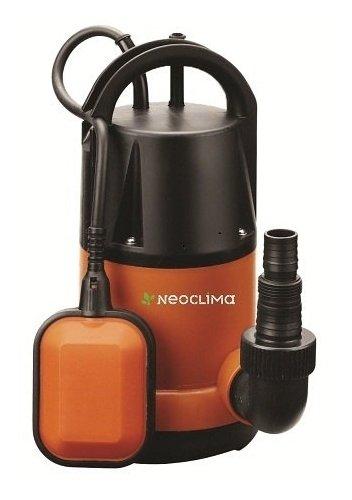 Дренажный насос Neoclima DP 200 CДренажные насосы<br>NeoClima DP 200 C &amp;ndash; модель погружного дренажного насоса, предназначение которого &amp;ndash; перекачивание чистой воды, максимальный размер примесей в которой в диаметре не превышает 5 мм.<br>Прибор подходит для оборудования скважинных колодцев, для оборудования систем водоснабжения в частных домах, или для организации системы орошения на приусадебных участках.<br>Поплавковый контроллер уровня воды и система защиты от сухого хода надежно защищает работоспособность оборудования, увеличивая срок его службы.<br>Особенности прибора: <br><br>Вертикальная установка прибора<br>Автоматика контроля уровня воды<br>Поплавковый контроллер уровня воды<br>Защита от сухого хода<br>Крыльчатка из норила<br>В комплект входит переходник для шланга<br>Пластиковый корпус<br>Бесшумный двигатель<br>Компактные размеры<br>Аккуратный дизайн<br><br>Погружные дренажные насосы серии NeoClima DP &amp;ndash; С/D предназначены для перекачки чистой или загрязненной воды с целью осушения затопленных подвалов или сточных канав, для удаления воды из бассейнов без донного слива и для подачи воды для орошения. Маркировка &amp;ldquo;C&amp;rdquo; (clean) предполагает эксплуатацию приборов при перекачке чистой или не сильно загрязненной воды &amp;ndash; с возможными загрязняющими частицами диаметром до 2 мм. Маркировка &amp;ldquo;D&amp;rdquo; (dirty) допускает использование оборудования при перекачке загрязненной воды, где размер фильтруемых частиц может достигать 35 мм в диаметре.<br>Вертикальная установка прибора и небольшие габаритные размеры позволяют использовать прибор даже в скважинах малого диаметра.<br>Поплавковый контроллер уровня воды исключает вероятность холостой работы насоса, чреватой быстрым износом. Как только уровень перекачиваемой воды оказывается ниже уровня поплавка, прибор прекращает работу.<br>Крыльчатка из норила отличается высокой прочностью и надежностью, гарантируя длительную безотказную работу устройства.<br>Пластико