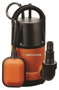 Дренажный насос Neoclima DP 750 C210 л/мин<br> <br>NeoClima DP 750 C   высокопроизводительный и надежный дренажный насос, изготовленный в вертикальном исполнении и рассчитанный на перекачивание воды, размер механических загрязнений в которой в диаметре не превышает 5 мм.<br> <br>Небольшой диаметр корпуса, устройство можно использовать для забора воды даже из узких скважин, а наличие поплавкового контроллера и устройства автоматической защиты от холостого (сухого) хода, позволяет использовать насос даже при отсутствии возможности визуального наблюдения за уровнем перекачиваемой воды.<br>Особенности прибора: <br><br>Вертикальная установка прибора<br>Автоматика контроля уровня воды<br>Поплавковый контроллер уровня воды<br>Защита от сухого хода<br>Крыльчатка из норила<br>В комплект входит переходник для шланга<br>Пластиковый корпус<br>Бесшумный двигатель<br>Компактные размеры<br>Аккуратный дизайн<br><br>Погружные дренажные насосы серии NeoClima DP   С/D предназначены для перекачки чистой или загрязненной воды с целью осушения затопленных подвалов или сточных канав, для удаления воды из бассейнов без донного слива и для подачи воды для орошения. Маркировка  C  (clean) предполагает эксплуатацию приборов при перекачке чистой или не сильно загрязненной воды   с возможными загрязняющими частицами диаметром до 2 мм. Маркировка  D  (dirty) допускает использование оборудования при перекачке загрязненной воды, где размер фильтруемых частиц может достигать 35 мм в диаметре.<br>Вертикальная установка прибора и небольшие габаритные размеры позволяют использовать прибор даже в скважинах малого диаметра.<br>Поплавковый контроллер уровня воды исключает вероятность холостой работы насоса, чреватой быстрым износом. Как только уровень перекачиваемой воды оказывается ниже уровня поплавка, прибор прекращает работу.<br>Крыльчатка из норила отличается высокой прочностью и надежностью, гарантируя длительную безотказную работу устройства.<br>Пластиковый корпус исключает коррозионное разрушение