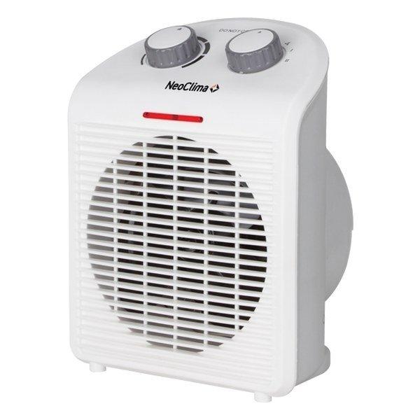 Бытовой тепловентилятор NeoclimaБытовые<br>Спиральный тепловентилятор модели Neoclima (Неоклима) FH-18 компактен и выполнен в классическом стиле. Прибор может работать в нескольких режимах, которые пользователь регулирует вручную. Благодаря тому, что оборудование оснащено защитой от перегрева, эксплуатация тепловентилятора считается безопасной и удобной. Устройство не нуждается в специфичном обслуживании.<br>Особенности и преимущества:<br><br>Термостат.<br>Световой индикатор.<br>Защита от перегрева.<br>Отключение при падении.<br>Вентиляция без нагрева.<br>Механическое управление.<br><br>Спиральные тепловентиляторы Neoclima серии FH компактны и выполнены в классическом дизайне. Приборы могут быть установлены как напольным, так и настольным способом. Оборудование предназначено для обогрева небольших помещений и не требует специального сервисного обслуживания. Агрегаты оснащены от перегрева, поэтому их использование надежно и безопасно.<br><br>Страна: Греция<br>Мощность, кВт: 2,0<br>Площадь, м?: 20<br>Тип нагревательного элемента: Спираль<br>Тип регулятора: Механический<br>Защита от перегрева: Есть<br>Отключение при опрокидывании: Нет<br>Ионизатор: Нет<br>Дисплей: Нет<br>Пульт: Нет<br>Габариты, мм: None<br>Вес, кг: 2<br>Гарантия: 1 год