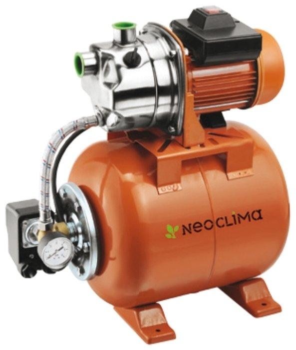 Насосная станция Neoclima GP 1000/20 NПоверхностные станции<br>Поверхностный насос Neoclima GP 600/20 N на долгие годы решит вопрос отличного напора в Вашем водопроводе. Мощная система подкачки способна обеспечить достаточным количеством воды сразу несколько водозаборных точек. Стальной корпус обеспечивает этому оборудованию прочность и защиту от коррозии, что положительным образом сказывается на сроке эксплуатации насосной станции.<br>Технические характеристики:<br><br>Широкая сфера применения<br>Вода, доставленная ним, не теряет своих природных качеств<br>Создает высокий напор, который поддерживается автоматически<br>Автоматическое управление<br>Создает бесперебойное водоснабжение<br>Большая пропускная способность<br>Чугунный /стальной корпус<br>Невероятно прост в установке<br>Компактные размеры<br>Защита от перегрева<br>Сертифицирован по европейским стандартам <br><br>Поверхностная насосная станция Neoclima используется поддержания достаточного давления в системе водоснабжения. Высокая производительность позволяет одной этой насосной станцией обеспечить около десяти водозаборных точек. Причем, работать этот насос без перерыва может довольно долго   производители оснастили его встроенным вентилятором, который постоянно охлаждает его электродвигатель, не давая ему перегреться.<br>Напорный гидробак объемом 20 литровизготовлен из стали, которая совершенно не подвержена коррозии и может служить несколько десятилетий. Все остальные детали, из которых собран насос Neoclima, изготовлены извысокопрочных и стойких к износу материалов, благодаря чему достигается эффективная и бесперебойная работа в течение долгих лет.<br>Насосы компании Neoclima просты в установке, надежны в работе и отличаются долгим сроком службы. Вся продукция этой компании соответствует высшим европейским стандартам качества и имеет сертификацию  GS . Каждый насос перед тем, как он попадет на витрину, проходит полнейшую проверку. Это позволяет избежать появления в продаже бракованных экземпляров, гарант