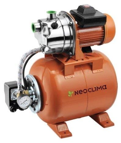 Насосная станция Neoclima GP 1000/50 NПоверхностные станции<br>Насосная станция модели NeoClima GP 1000/50 N гарантированно обеспечит пользователю стабильный высоки напор в системе подачи воды и поможет не только повысить эффективность работы централизованной системы водоснабжения, а и также подойдет для перекачивания и подачи воды из резервуаров, емкостей и бассейнов для орошения или полива.<br>Устройство оснащено автоматизированной системой управления и поддержания нужного давления воды в системе.<br>Особенности прибора:<br><br>Обеспечивает бесперебойное водоснабжение<br>Подходит для повышения давления в системе водоснабжения<br>Можно использовать для перекачивания воды из резервуаров и емкостей<br>Высокий уровень производительности<br>Автоматическое поддержание давления воды в системе<br>Система автоматического управления<br>Шнур питания с вилкой в комплекте поставки<br>Стальной корпус гидроаккумулятора<br>Малошумный двигатель<br><br><br>Компактные размеры<br>Аккуратный дизайн<br><br>Насосная станция NeoClima GP предназначена для поддержания стабильно высокого водяного давления в системе водоснабжения или на ее отдельном участке. Оборудование автоматически поддерживает необходимый уровень давления, что особенно важно в случаях, когда от давления воды зависит стабильность работы устройств-потребителей   газовых колонок, электрических нагревателей воды и других.<br>Система автоматического управления работой устройства избавляет пользователя от постоянного контроля устройства и позволяет устанавливать оборудование в подвале или другом малопосещаемом месте.<br>Стальной корпус гидроаккумулятора гарантирует максимальный уровень износоустойчивости прибора.<br>Малошумный двигатель избавляет от дополнительного шумового загрязнения во время работы насосной станции, делая ее эксплуатацию максимально комфортной в любых условиях.<br>Компактные размеры прибора позволяют устанавливать его даже в условиях ограниченного свободного пространства в помещении.<br>Шнур питания с вилко