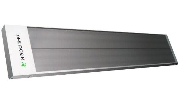 Инфракрасный обогреватель Neoclima IR-3.03 кВт<br>    Инфракрасный обогреватель Neoclima IR-3.0 Основным преимуществом инфракрасных обогревателей, к которым относится модель, является выделение тепла именно в том месте, где оно необходимо. Специальное конструктивное решение в виде продольного оребрения главной панели позволяет оптимально распределять тепло в помещении. Корпус обогревателя изготавливается из оцинкованного стального листа, окрашенного антикоррозийной краской. Мощность представленной модели 3,0 кВт. Площадь обогрева 30 квадратных метров.<br> <br>Основные характеристики модели:<br> <br><br>Представленная модель отличается экономичным потреблением электроэнергии и ее эффективным использованием: КПД преобразования электрической энергии в тепловую -  100 %. Есть возможность установки регулируемых термостатов (как дополнительной функции), что дает возможность более рационально потреблять электроэнергию и управлять уровнем температуры в помещении.<br>Простой как при монтаже, так и в эксплуатации, обогреватель Neoclima IR3.0 прикрепляется на потолке, что позволяет экономить пространство и располагать устройство в наиболее удобном месте.<br>Экологичный нагревательный элемент   анодированная алюминиевая панель с ТЭНом   позволяет прогревать помещение и не выделяет при этом в воздух вредные вещества.<br>не комплектуется вилкой и шнуром питания;<br><br> <br>     Компания Neoclima   известный по всему миру международный производитель доступной, современной и надежной климатической техники. Высокое качество производимых товаров, а так же применение инновационных технологий обеспечили  технике Neoclima популярность в ряде Европейских стран, в том числе и в России.<br> <br> <br> <br><br>Страна: Греция<br>Производитель: Россия<br>Мощность, кВт: 3,0<br>Площадь, м?: 30<br>Класс защиты: IP20<br>Регулировка мощности: Да<br>Встроенный термостат: Нет<br>Тип установки: Потолочная<br>Отключение при перегреве: Нет<br>Пульт: Есть<br>Габариты ШВГ, см: 164x4,3x39,5<br>Вес, кг: 4<