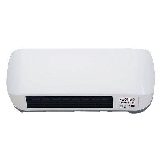 Керамический тепловентилятор Neoclima LITEN 9016Бытовые<br>Современный тепловентилятор Neoclima (Неоклима) LITEN 9016 с белоснежным корпусом и эргономичным исполнением имеет высокий класс электрозащиты   II. Данное устройство имеет простое и понятное для любого человека управление   контроль над работой настенного тепловентилятора может осуществляться на корпусе или с помощью специального пульта дистанционного управления.<br><br><br><br><br>Особенности и преимущества тепловентилятора Neoclima представленной модели:<br><br>защита от перегрева<br>2 ступени мощности<br>не сушит воздух<br>таймер отключения<br>световой индикатор работы<br>режим - вентиляция без нагрева<br>возможность управления на корпусе<br>пульт ДУ в комплекте<br>класс электрозащиты II<br><br><br><br> <br><br><br>Режимы работы:<br><br>режим без нагрева;<br>режим обогрева половинной мощности;<br>режим обогрева полной мощности.<br><br> <br><br><br><br><br>Если вам необходимо организовать основной или дополнительный обогрев помещений жилого, административного типа, то серия тепловентиляторов, разработанная компанией Neoclima станет отличным выбором. Эти агрегат успешно справляются со своей непосредственной задачей, оснащены первоклассными комплектующими и выполнены в прочной и эргономичной оболочке. Дизайн приборов всегда стилен и современен, что сможет отлично вписать их в самые разнообразные интерьерные решения. Простое интуитивно понятное управление, низкие шумовые характеристики, повышенный ресурс работы также находятся в арсенале преимуществ этих приборов. Представленные в интернет-магазине mircli.ru тепловентиляторы Neoclima соответствуют необходимым стандартам безопасности и качестве, сертифицированы надлежащим образом. <br><br>Страна: Китай<br>Мощность, кВт: 2,0<br>Площадь, м?: 20<br>Тип нагревательного элемента: Керамический<br>Тип регулятора: Электронный<br>Защита от перегрева: Есть<br>Отключение при опрокидывании: Нет<br>Ионизатор: Нет<br>Дисплей: Да<br>Пульт: Есть<br>Габариты, мм: 186х450х115<