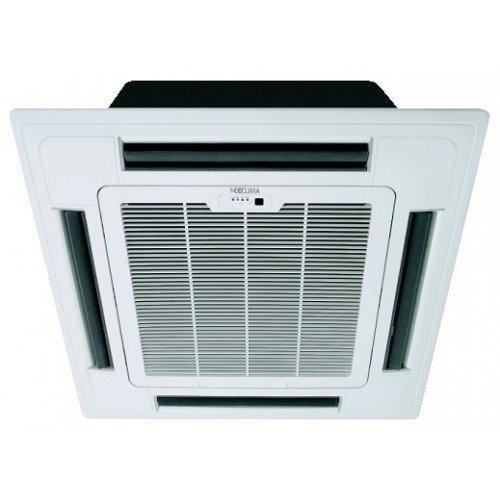 Кассетный кондиционер Neoclima NS/NU-12B53.5 кВт - 12 BTU<br>Neoclima NS/NU-12B5 &amp;ndash; это небольшой полупромышленный кондиционер, созданный для эффективной эксплуатации в помещениях с небольшой обслуживаемой площадью. Данное устройство способно создать наиболее благоприятные климатические условия и может применяться не только в режимах изменения установленных температурных характеристик, но также осушения воздуха.<br>Особенности и преимущества кассетных кондиционеров Neoclima серии NS/NU:<br><br>Равномерное распределение воздуха в помещении<br>Озонобезопасный фреон R 410<br>Автоматический перезапуск<br>Дренажная помпа поднимает конденсат на200 мм<br>Самодиагностика неисправностей<br>Имеется таймер вкл/выкл<br>Регулировка скорости вращения вентилятора<br>Возможна регулировка направления потока воздуха<br>Система против образования льда<br>Распределители фреона повышают теплообмен<br>Функция оттаивания наружного блока<br>Функция автоматического рестарта<br>Простой алгоритм диагностики неисправностей<br>Защита компрессора от перегрева<br>Теплообменник внутреннего блока защищен от образования льда<br>Оснащен встроенным стабилизатором напряжения<br>Имеет функцию запоминания настроек<br><br>Кассетные кондиционеры Neoclima серии NS/NU имеют довольно широкую сферу применения и могут быть установлены в стандартной ячейке подвесного потолка. Этот агрегат оснащен японским надежным компрессором, обеспечивающим высокую эффективность работы сплит-системы. Благодаря высокому качеству компонентов этого кондиционера, он может&amp;nbsp; работать длительное время беспрерывно, при этом в его работе не будет возникать никаких сбоев. Специальные распределители фреона, которые установлены в радиаторах внутреннего и внешнего блока, обеспечивают равномерный теплообмен и более эффективную теплоотдачу.<br><br>Страна: Греция<br>Площадь, м?: 35<br>Охлаждение, кВт: 3,9<br>Обогрев, кВт: 3,8<br>Компрессор: Не инвертор<br>Расход воздуха, мsup3;/ч: 566<br>Осушение, л/час: None<br>Длина трассы