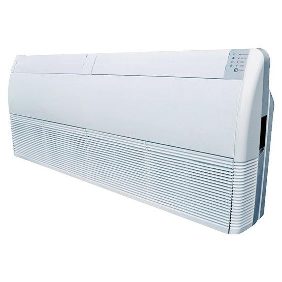 Напольно-потолочный кондиционер Neoclima NS/NU-18T55.5 кВт - 18 BTU<br>NS/NU-18T5   это потолочная сплит-система с подвесным вариантом установки от компании Neoclima. Прибор способен осуществлять охлаждение и обогрев воздуха внутри помещений, осушить излишнюю влажность воздуха, а также провентилировать его. При непредвиденных сбоях в сети электричества, прибор самостоятельно перезапустит систему и возобновит работу с последними заданными параметрами.<br>Основные преимущества рассматриваемой модели напольно-подпотолочного кондиционера от торговой марки Neoclima:<br><br>Универсальный   напольно-потолочный вариант размещения кондиционера.<br>Встроенная система самодиагностики.<br>Автоматическое качание жалюзи в вертикальной плоскости.<br>Возможность автоматического регулирования воздушного потока.<br>Режим снижения уровня влажности воздуха.<br>Широкий диапазон наружных температур.<br>Функция автоматической разморозки.<br>Практически бесшумная работа.<br>Встроенный компрессор японского качества.<br>Надежная система защиты прибора.<br>Теплообменник надежно защищен от образования коррозии.<br>Возможность установки таймера на включение и выключение.<br>Инфракрасный пульт дистанционного управления в комплекте.<br>Эксклюзивное решение   медные трубопроводы.<br><br>Серия современных кондиционеров от торговой марки Neoclima   NS/NU-T5   это инновационные решения, заключенные в стильный корпус, которые принесут вам комфорт и невероятно приятную атмосферу в любое время года. Приборы оборудованы комплектующими непревзойденного японского качества, что делает работу таких кондиционеров точной, быстрой и высокопроизводительной. Благодаря функции самостоятельной регулировки скорости вращения вентилятора, воздушный поток внутри помещения распределяется наиболее оптимально и продуктивно. Удобства добавляет и таймер, которым оборудованы все модели рассматриваемой серии.  <br><br>Страна: Греция<br>Охлаждение, кВт: 5,3<br>Обогрев, кВт: 5,9<br>Осушение, л/час: None<br>Воздухообмен, мsup3;/