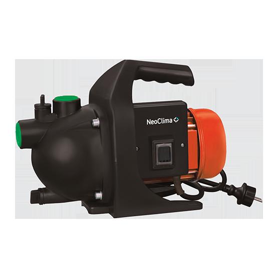 Поверхностный насос Neoclima SP 60050 л/мин<br>NeoClima SP 600   модель мобильного поверхностного насоса, которая идеально подойдет для осушения бассейна, затопленного подвала или освобождаемого резервуара или для подачи воды при поливе газонов или огорода.<br>Защищенный двигатель обеспечивает и надежность самого прибора, и его безопасность, а нешумная работа двигателя исключает возникновение дискомфорта при эксплуатации оборудования.<br> Особенности прибора:<br><br>Высокий уровень мобильности<br>Высокая производительность<br>Простота обслуживания<br>Защищенный электродвигатель<br>Шнур питания с вилкой в комплекте поставки<br>Сертификация по европейским стандартам<br><br><br>Малошумный двигатель<br><br><br>Удобная ручка для перемещения<br>Компактные размеры<br>Аккуратный дизайн<br><br>Мобильные поверхностные насосы модельной линии NeoClima SP могут использоваться на хозяйственных объектах   огородах, дачах или приусадебных участках для перекачивания воды из емкостей для полива и орошения огородов, газонов и клумб. Оборудование сертифицировано по европейским стандартам качества и соответствует всем необходимым в таком случае требованиям безопасности и надежности.<br>Высокий уровень защиты электродвигателя позволяет не беспокоиться о работоспособности устройства или о том, что внутрь проникнет вода, создав угрозу не только прибору, но и пользователям   утечкой электротока.<br>Удобная ручка для переноски позволит легко переместить прибор при необходимости и без труда установить устройство в нужном положении перед началом его эксплуатации.<br>Малошумный двигатель избавляет от дополнительного шумового загрязнения во время работы насосной станции, делая ее эксплуатацию максимально комфортной в любых условиях.<br>Шнур питания с вилкой, входящие в комплект поставки, являются дополнительным фактором удобства приобретения устройства и избавляют от дополнительной доукомплектации оборудования.<br>Компактные размеры прибора позволяют устанавливать его даже в условиях ограниченно