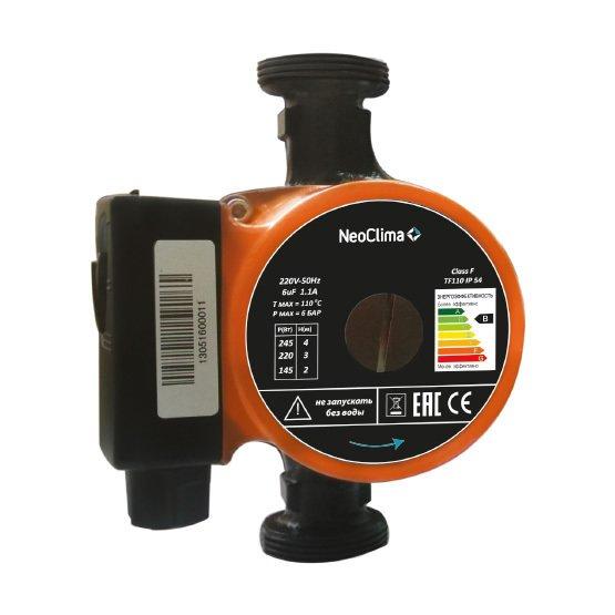 Циркуляционный насос Neoclima TCP 25/4-180Насосы для отопления<br>NEOCLIMA TCP 25/4-180 &amp;ndash; энергоэффективный и компактный циркуляционный насос, который подойдет для работы в системе отопления, установленной даже в небольшом помещении. Прибор поддерживает необходимое давление воды, не допуская перерасхода электроэнергии или топлива, как в случае организации отопительной системы с естественной конвекцией.<br>Благодаря многоступенчатой системе настройки мощности насоса, пользователь может корректировать скорость циркуляции теплоносителя индивидуально.<br>&amp;nbsp;Особенности прибора:<br><br>3 ступени мощности<br>Чугунный корпус<br>Керамический рабочий вал<br>Рабочее колесо из норила<br>Чугунные гайки<br>Механическое уплотнение из графита<br>Напор до 8-ми метров<br>Экономичное энергопотребление<br>Малошумный двигатель<br>Небольшой вес прибора<br>Компактные размеры<br><br>Циркуляционные насосы серии NEOCLIMA TCP &amp;ndash; оптимальное решение для оснащения систем отопления, подогрева полов и ГВС, требующих стимулирования циркуляции теплоносителя.<br>3 ступени мощности позволяют регулировать интенсивность работы устройства, что удобно не только в плане рационального соотношения энергозатрат и требуемого результата, но и в плане разумного использования самого рабочего потенциала прибора и расхода воды в случае использования прибора в системе ГВС.<br>Экономичное энергопотребление &amp;ndash; ощутимое и значимое преимущество, не акцентировать внимание на котором было бы неразумно. Прибор заботится о Вашем комфорта, не требуя за это много Ваших финансовых ресурсов.<br>Керамический рабочий вал отличается износоустойчивостью и защищен от коррозии, что особенно важно в условиях, когда деталь постоянно находится в воде.<br>Рабочее колесо из норила &amp;ndash; также защищенная от коррозии и механически прочная составляющая, благодаря высокому качеству которой прибор будет служить долго и безотказно.<br>Малошумный двигатель гарантирует комфортность эксплуатации насоса &a